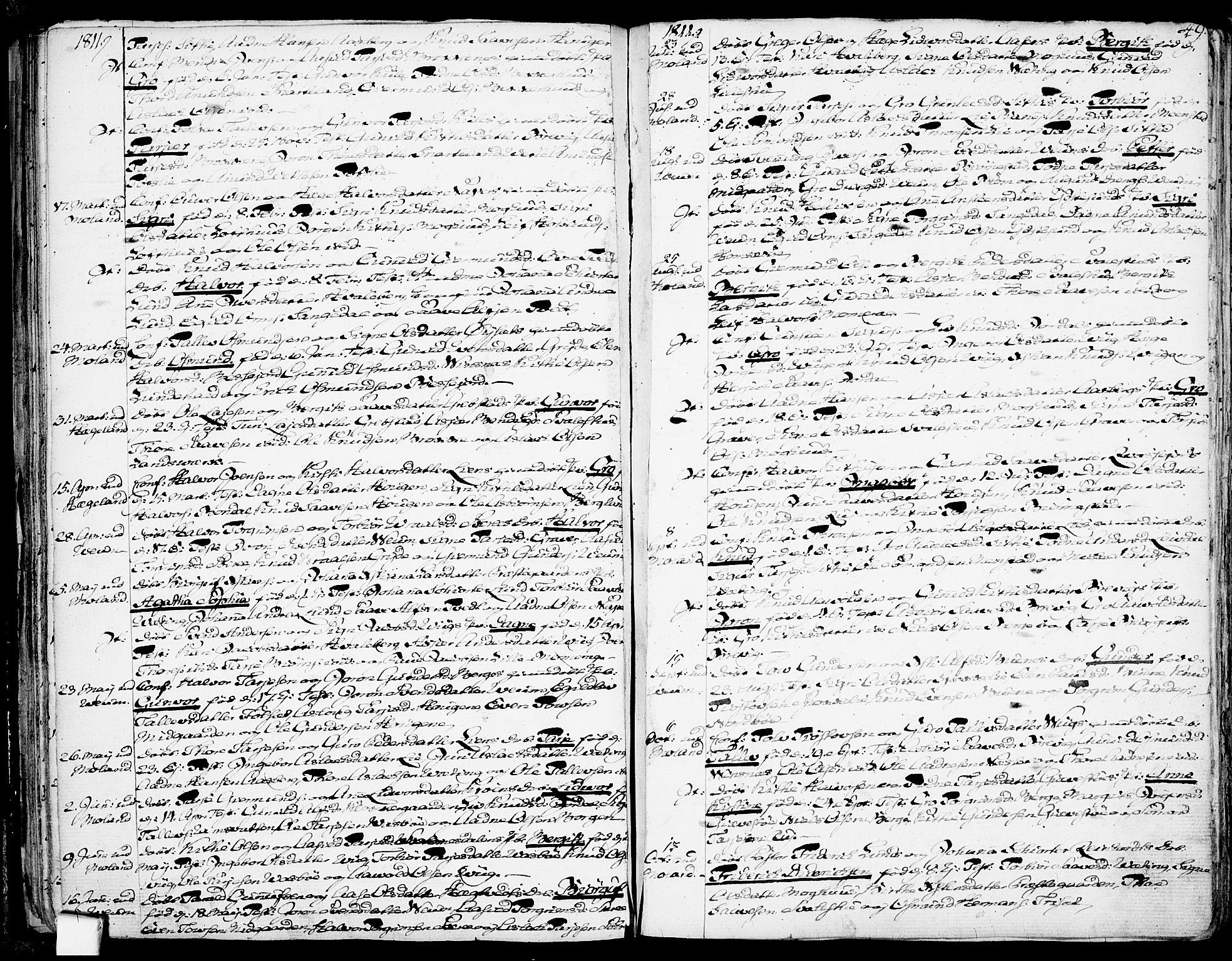 SAKO, Fyresdal kirkebøker, F/Fa/L0002: Ministerialbok nr. I 2, 1769-1814, s. 49
