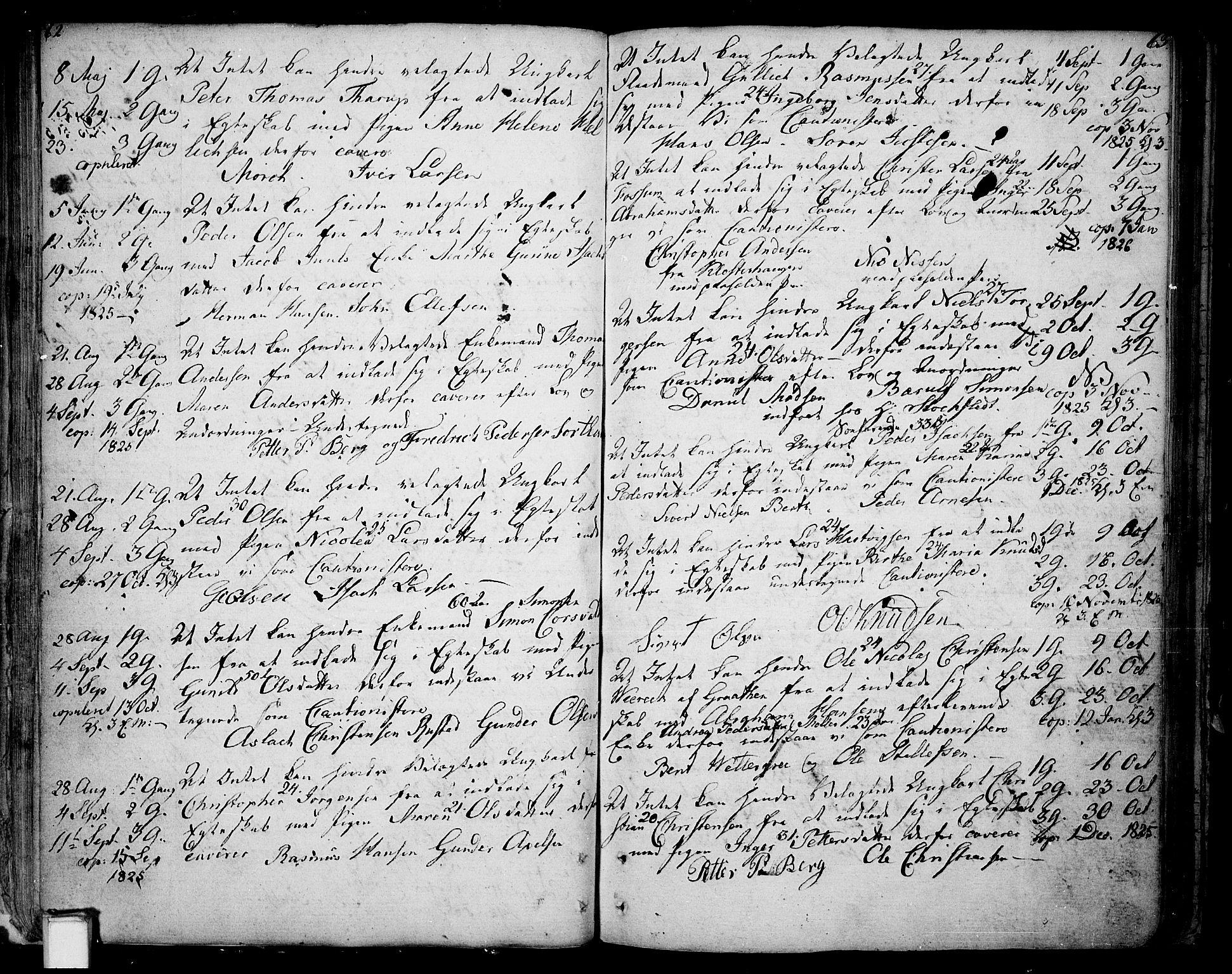 SAKO, Skien kirkebøker, F/Fa/L0004: Ministerialbok nr. 4, 1792-1814, s. 62-63