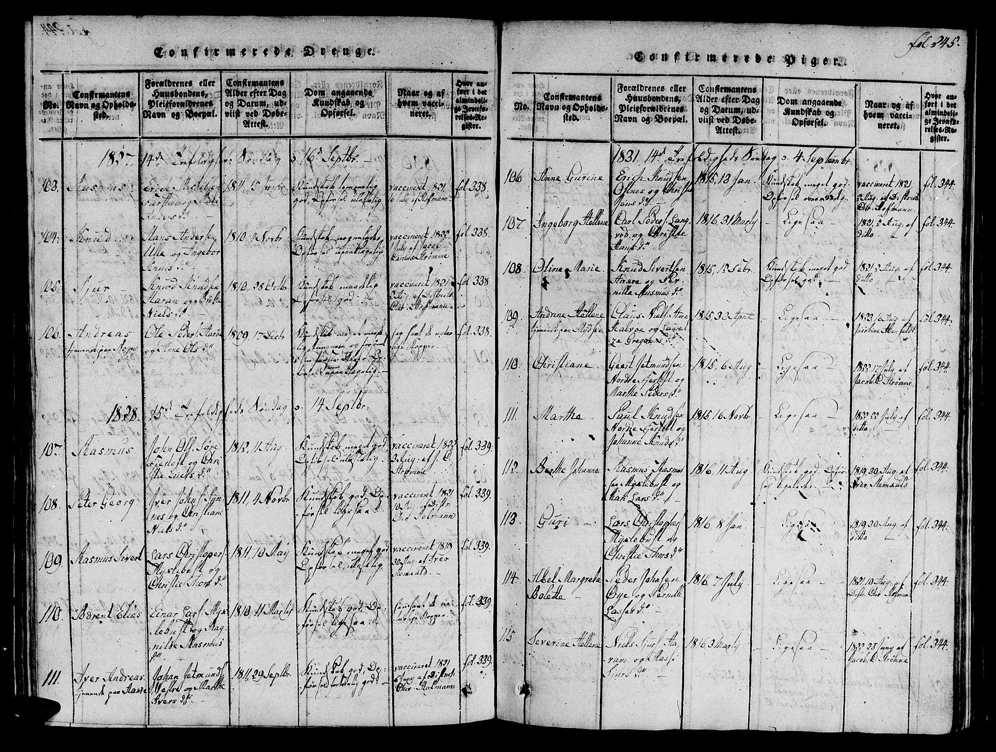 SAT, Ministerialprotokoller, klokkerbøker og fødselsregistre - Møre og Romsdal, 536/L0495: Ministerialbok nr. 536A04, 1818-1847, s. 245