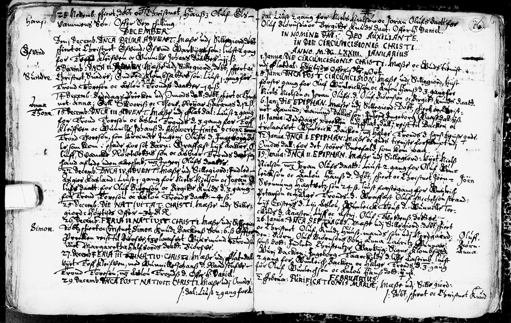 SAKO, Seljord kirkebøker, F/Fa/L0001: Ministerialbok nr. I 1, 1654-1686, s. 76