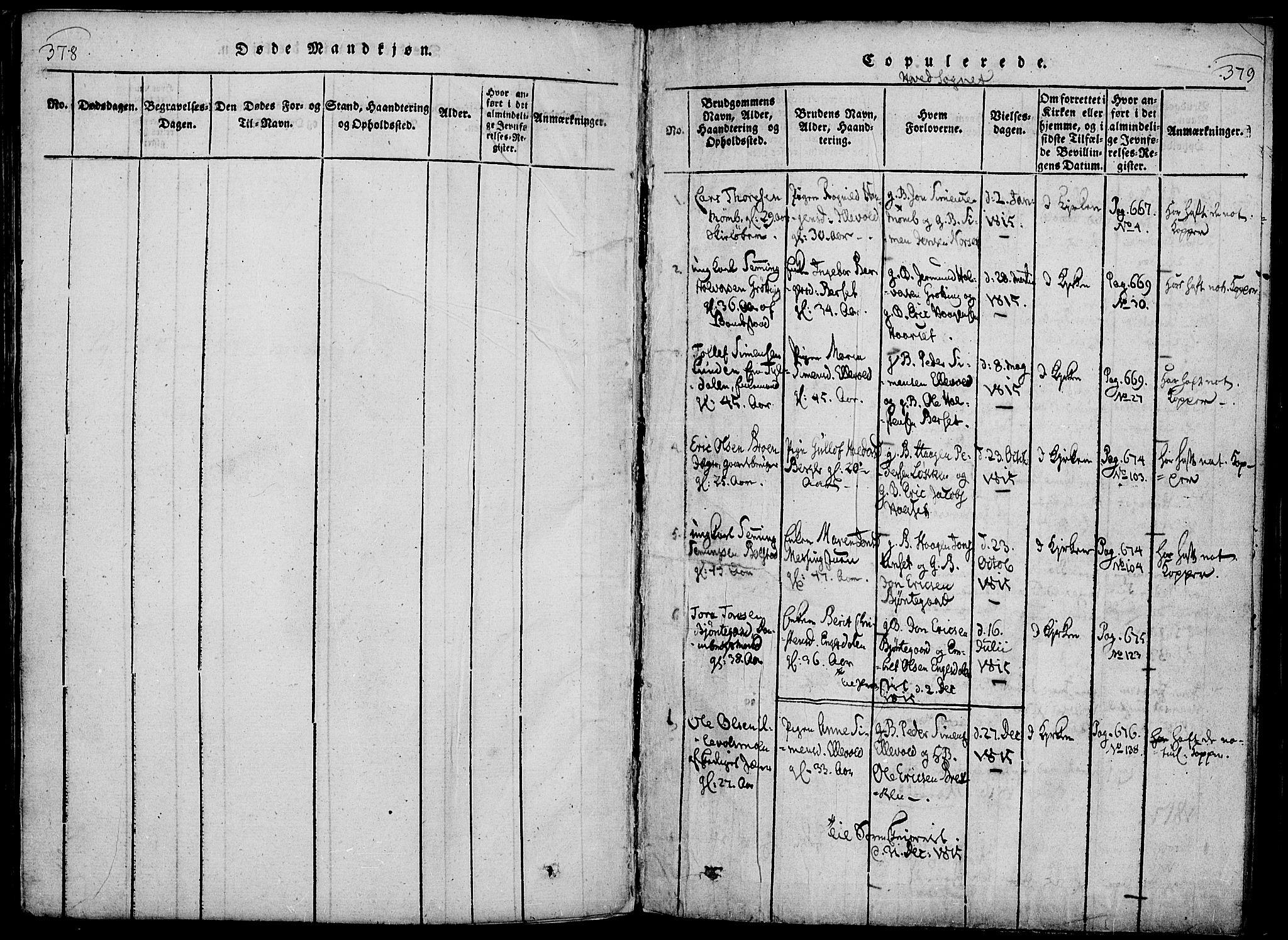SAH, Rendalen prestekontor, H/Ha/Haa/L0003: Ministerialbok nr. 3, 1815-1829, s. 378-379