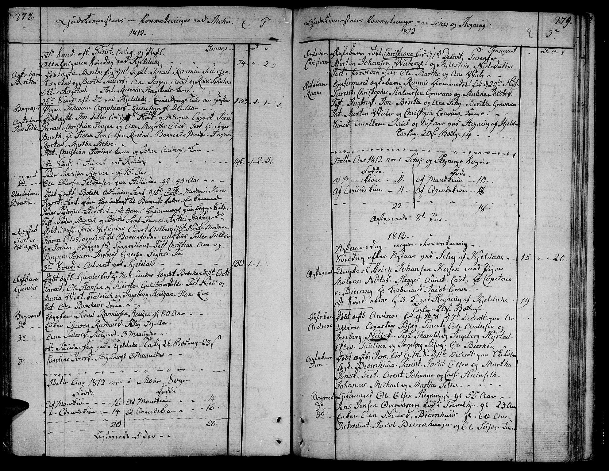 SAT, Ministerialprotokoller, klokkerbøker og fødselsregistre - Nord-Trøndelag, 735/L0332: Ministerialbok nr. 735A03, 1795-1816, s. 278-279