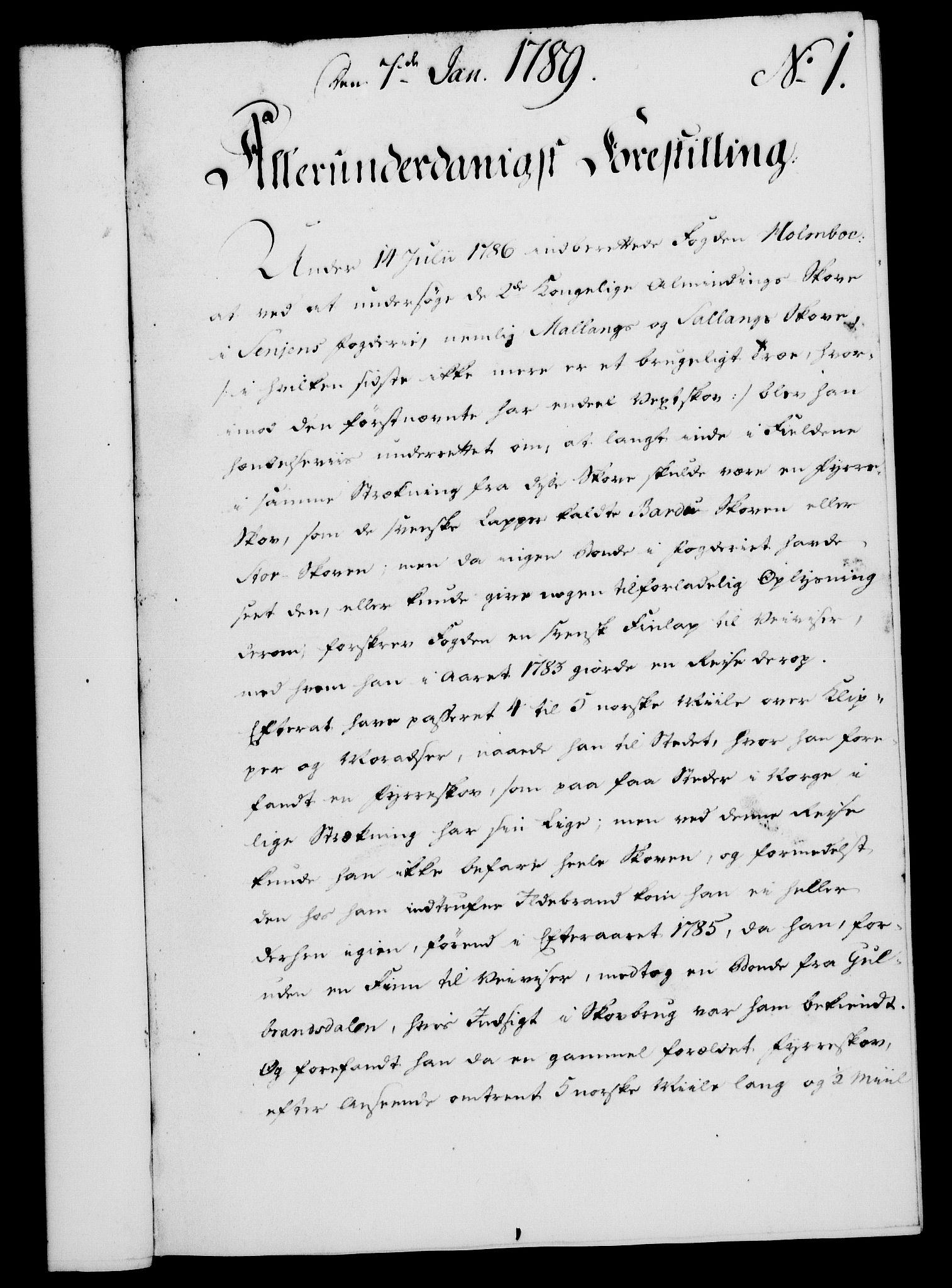 RA, Rentekammeret, Kammerkanselliet, G/Gf/Gfa/L0071: Norsk relasjons- og resolusjonsprotokoll (merket RK 52.71), 1789, s. 30