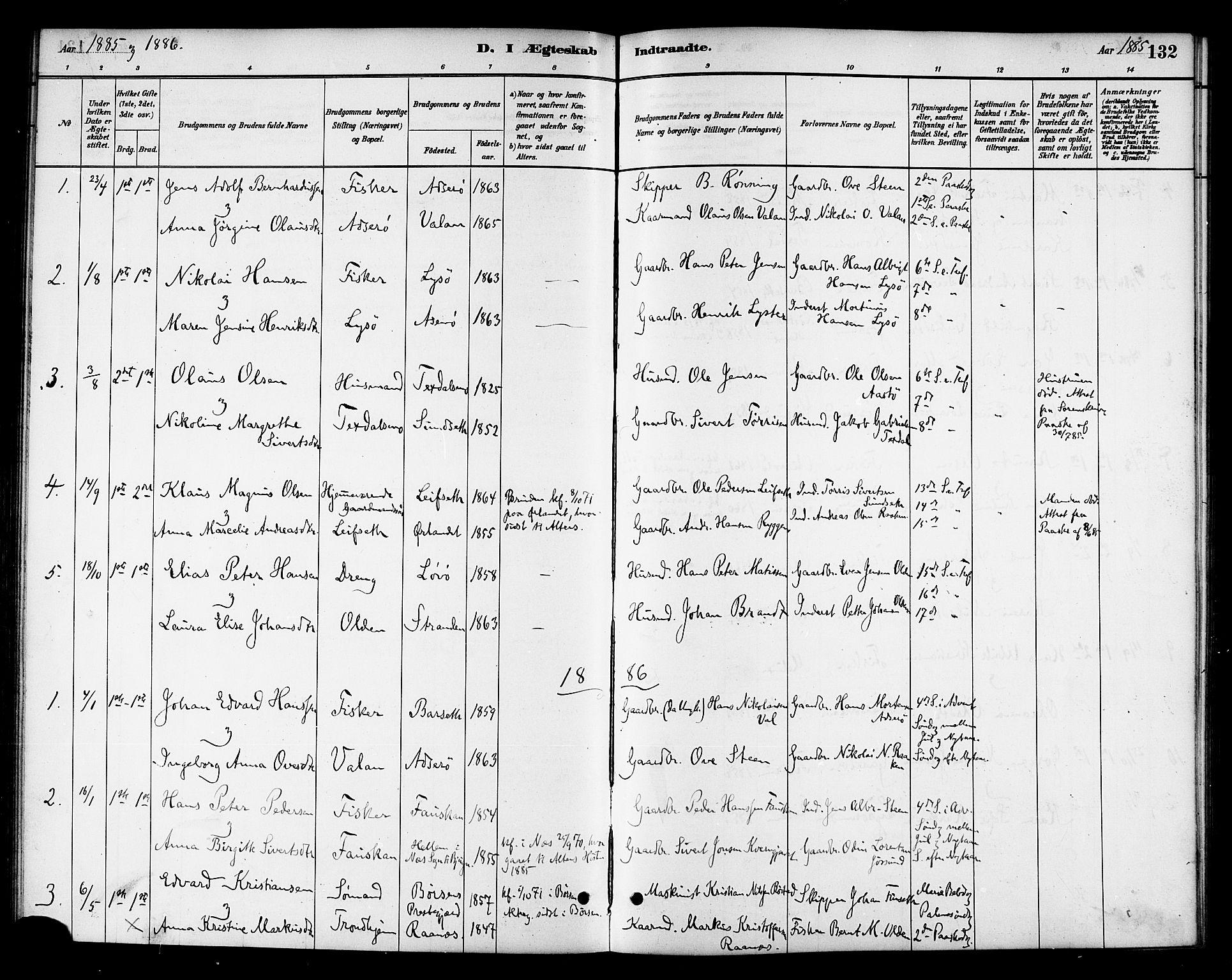 SAT, Ministerialprotokoller, klokkerbøker og fødselsregistre - Sør-Trøndelag, 654/L0663: Ministerialbok nr. 654A01, 1880-1894, s. 132