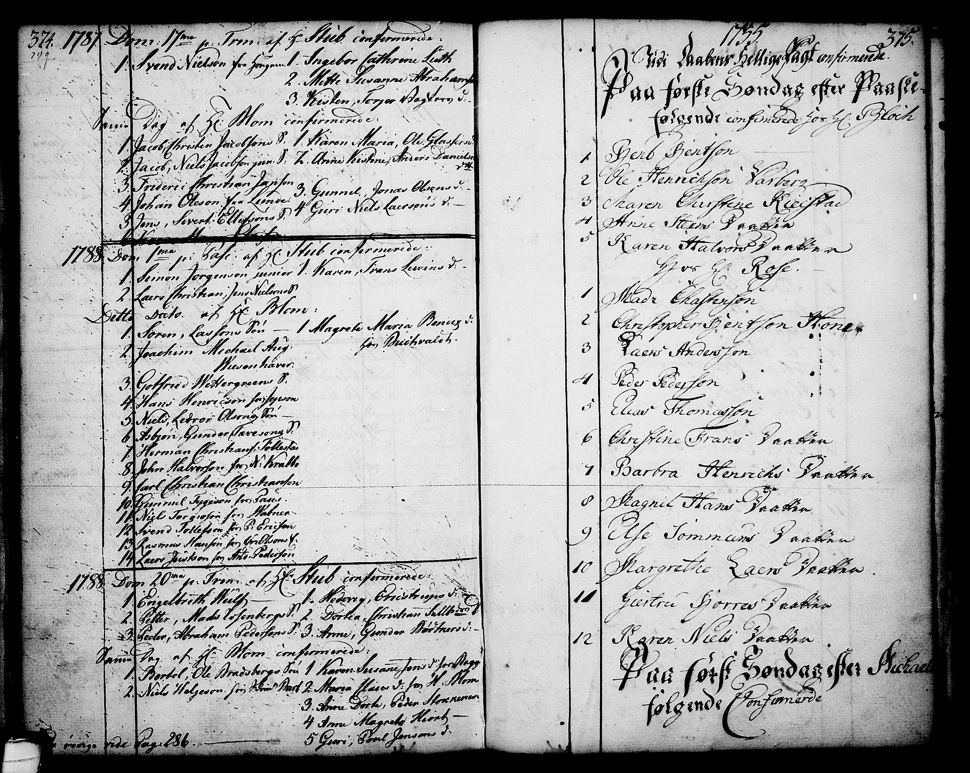 SAKO, Skien kirkebøker, F/Fa/L0003: Ministerialbok nr. 3, 1755-1791, s. 374-375