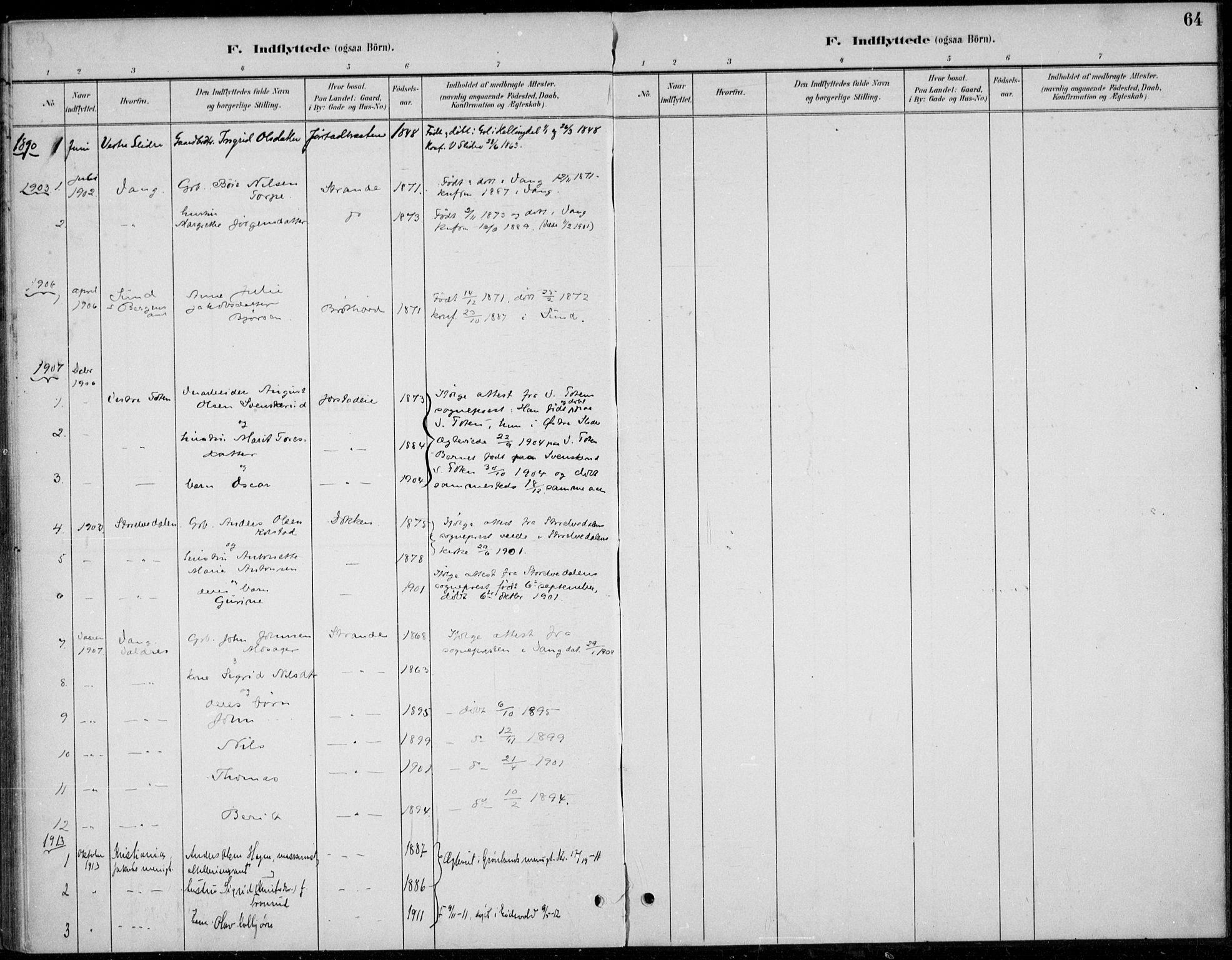 SAH, Øystre Slidre prestekontor, Ministerialbok nr. 5, 1887-1916, s. 64