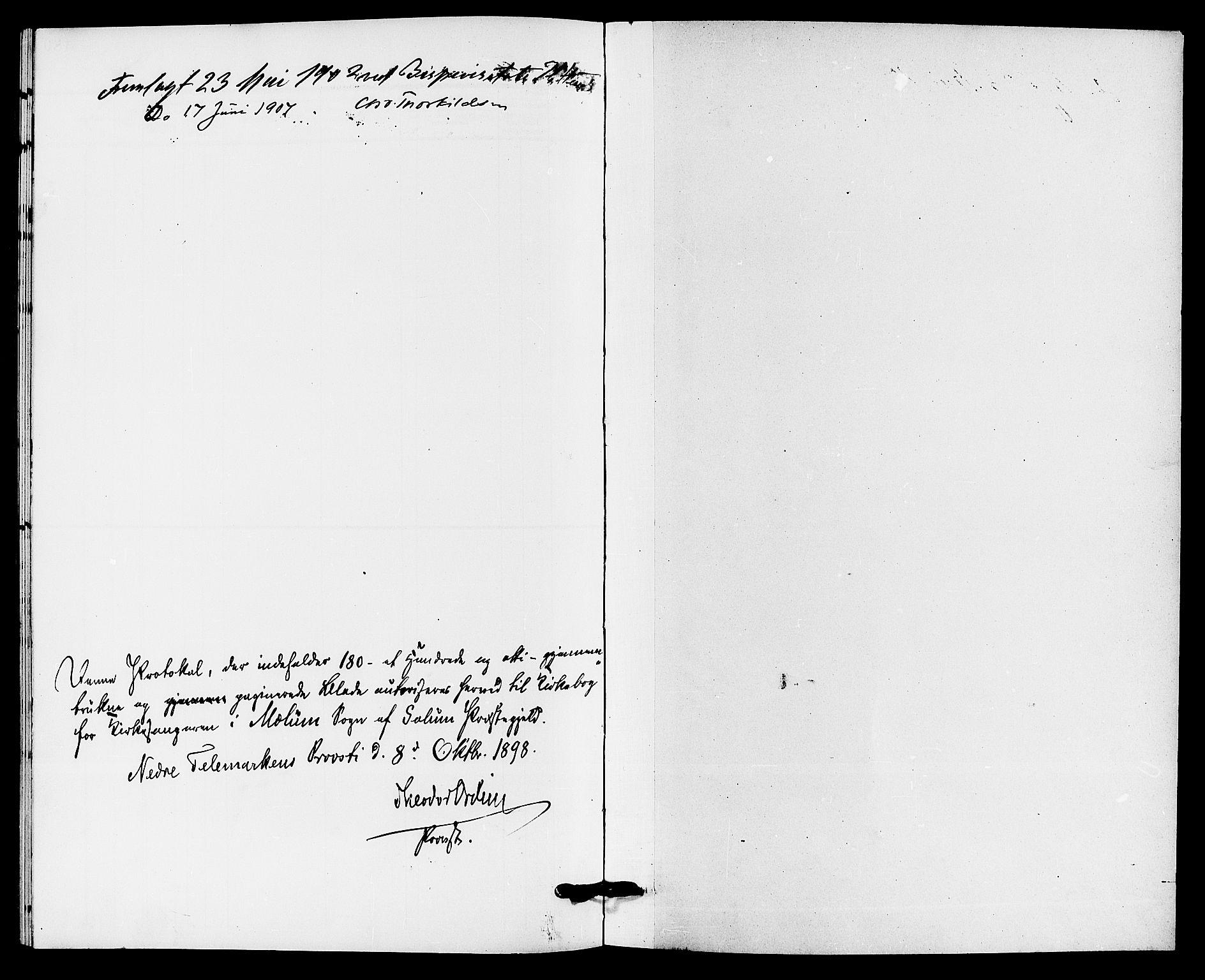 SAKO, Solum kirkebøker, G/Gb/L0004: Klokkerbok nr. II 4, 1898-1905