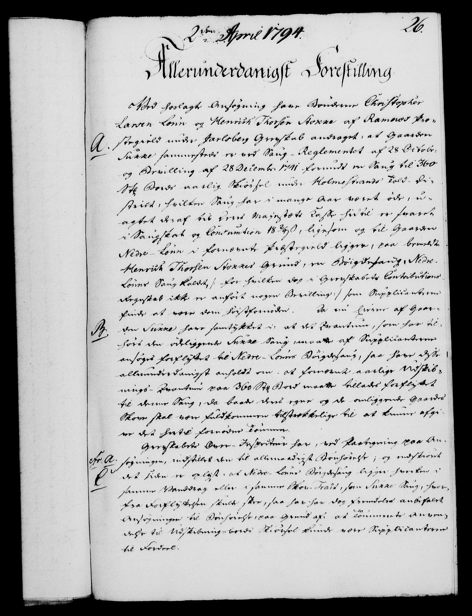 RA, Rentekammeret, Kammerkanselliet, G/Gf/Gfa/L0076: Norsk relasjons- og resolusjonsprotokoll (merket RK 52.76), 1794, s. 144
