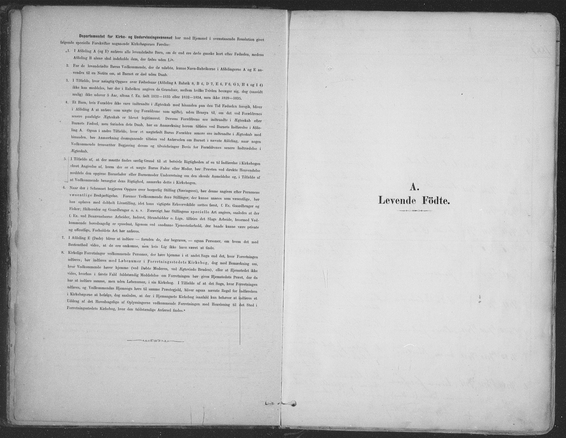 SATØ, Vadsø soknepreskontor, H/Ha/L0009kirke: Ministerialbok nr. 9, 1881-1917