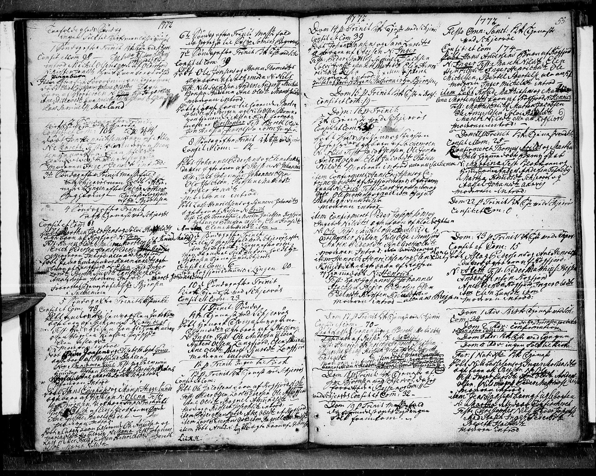 SATØ, Skjervøy sokneprestkontor, H/Ha/Haa/L0001kirke: Ministerialbok nr. 1, 1748-1780, s. 55