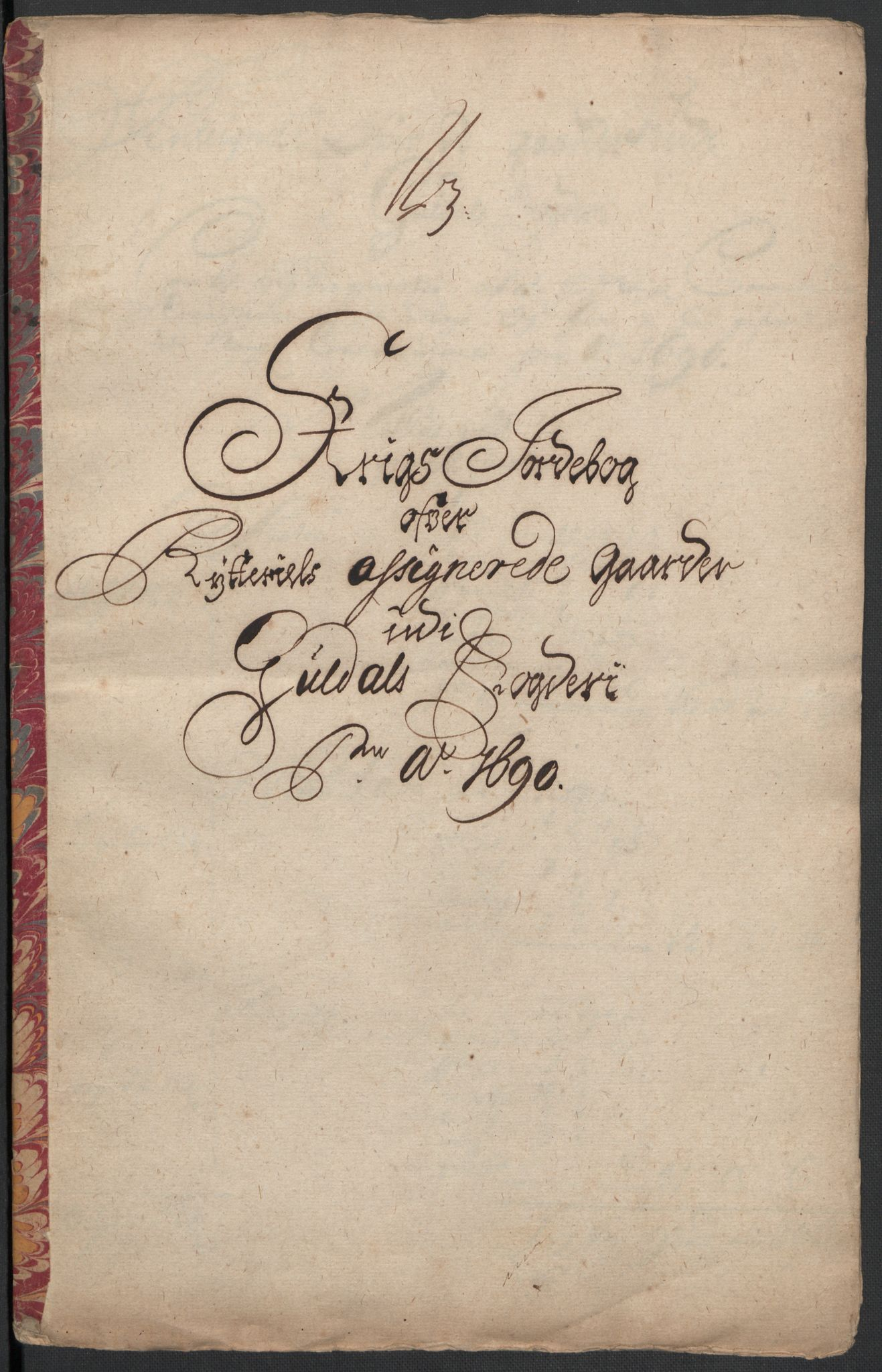 RA, Rentekammeret inntil 1814, Reviderte regnskaper, Fogderegnskap, R59/L3940: Fogderegnskap Gauldal, 1689-1690, s. 383