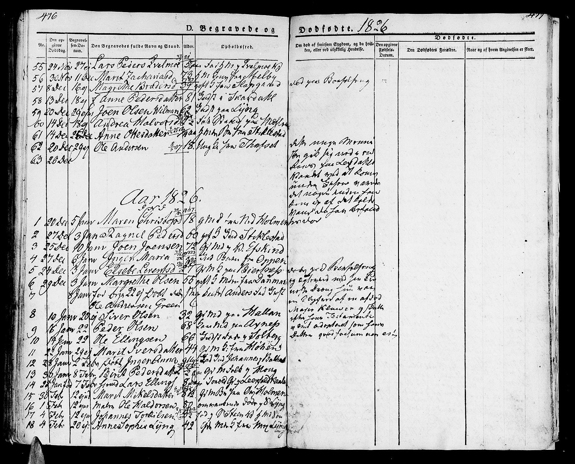 SAT, Ministerialprotokoller, klokkerbøker og fødselsregistre - Nord-Trøndelag, 723/L0237: Ministerialbok nr. 723A06, 1822-1830, s. 476-477