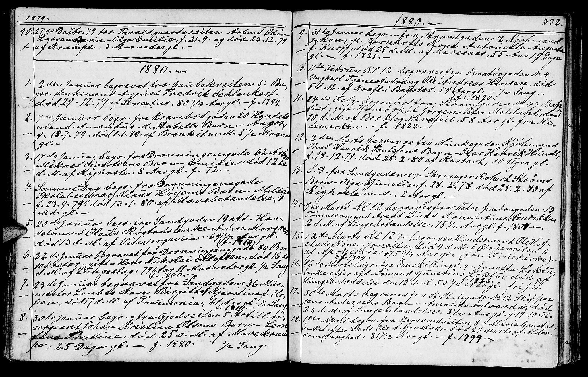 SAT, Ministerialprotokoller, klokkerbøker og fødselsregistre - Sør-Trøndelag, 602/L0142: Klokkerbok nr. 602C10, 1872-1894, s. 332