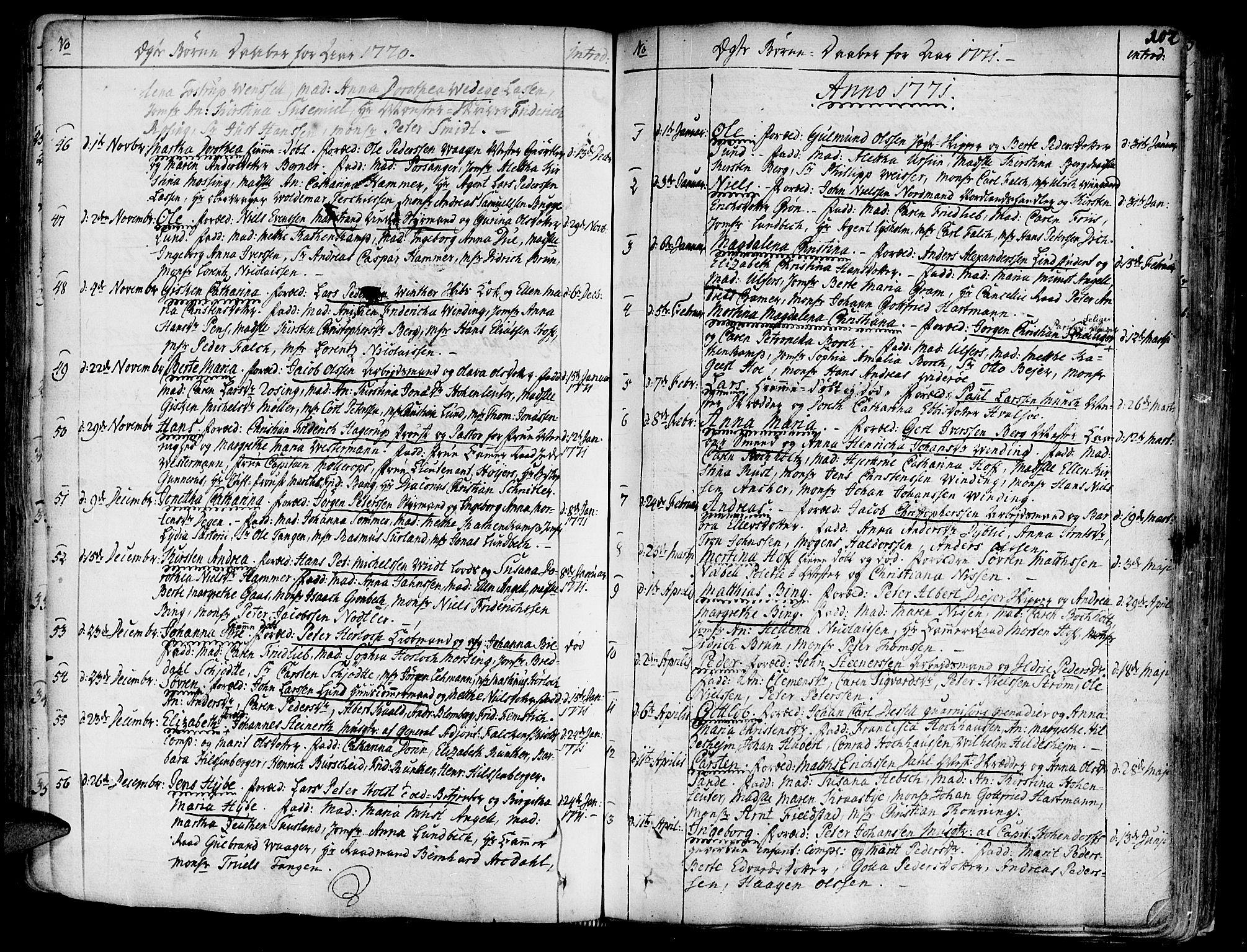 SAT, Ministerialprotokoller, klokkerbøker og fødselsregistre - Sør-Trøndelag, 602/L0103: Ministerialbok nr. 602A01, 1732-1774, s. 102