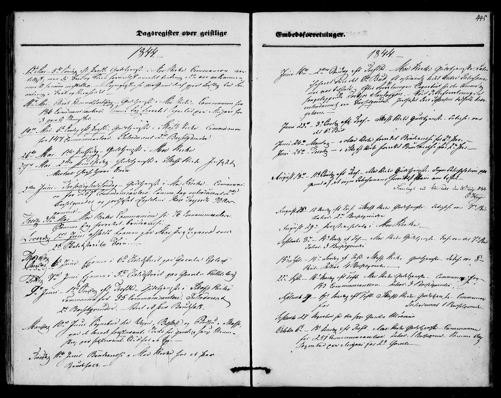 SAKO, Mo kirkebøker, F/Fa/L0005: Ministerialbok nr. I 5, 1844-1864, s. 445