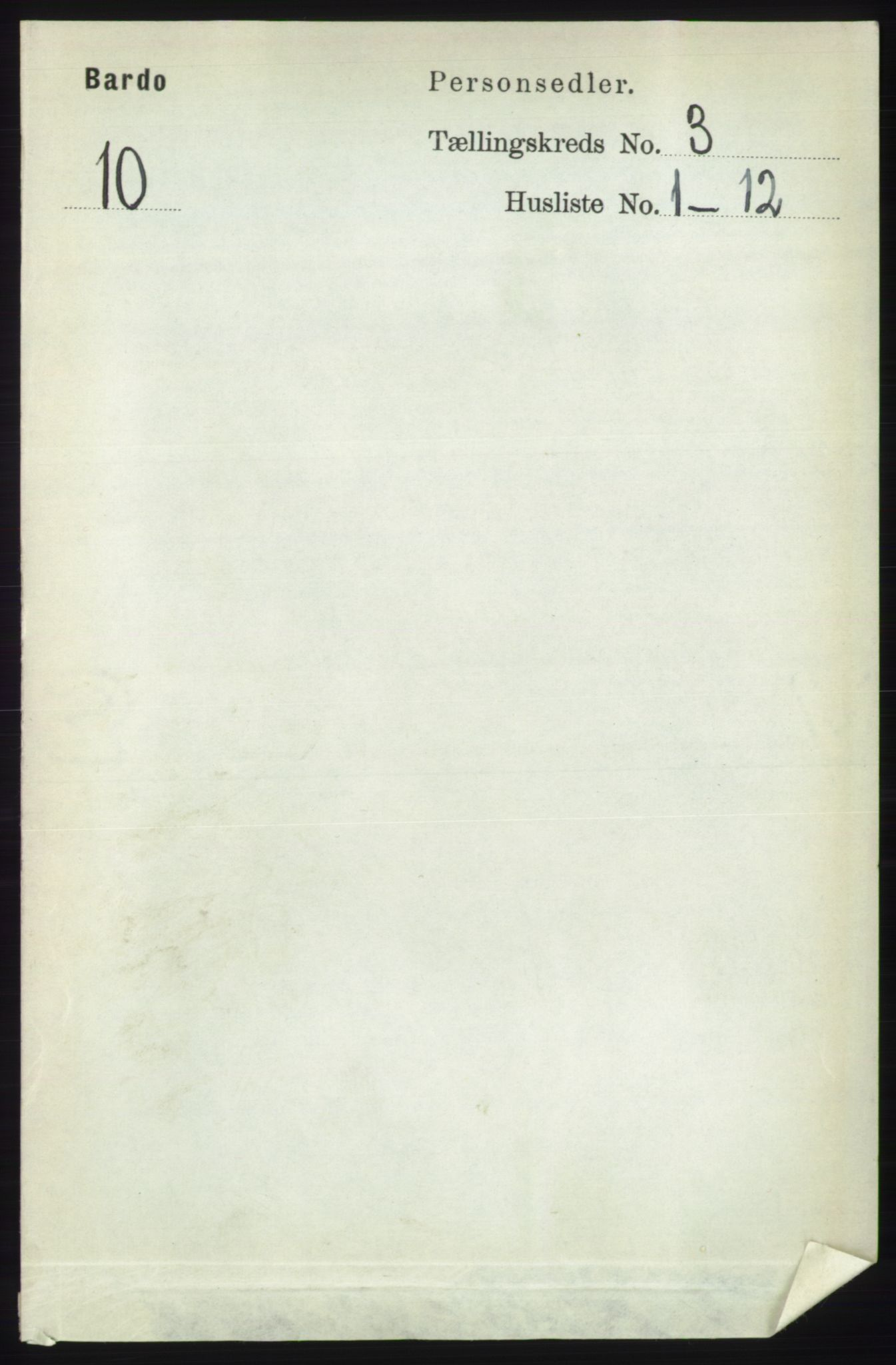 RA, Folketelling 1891 for 1922 Bardu herred, 1891, s. 901