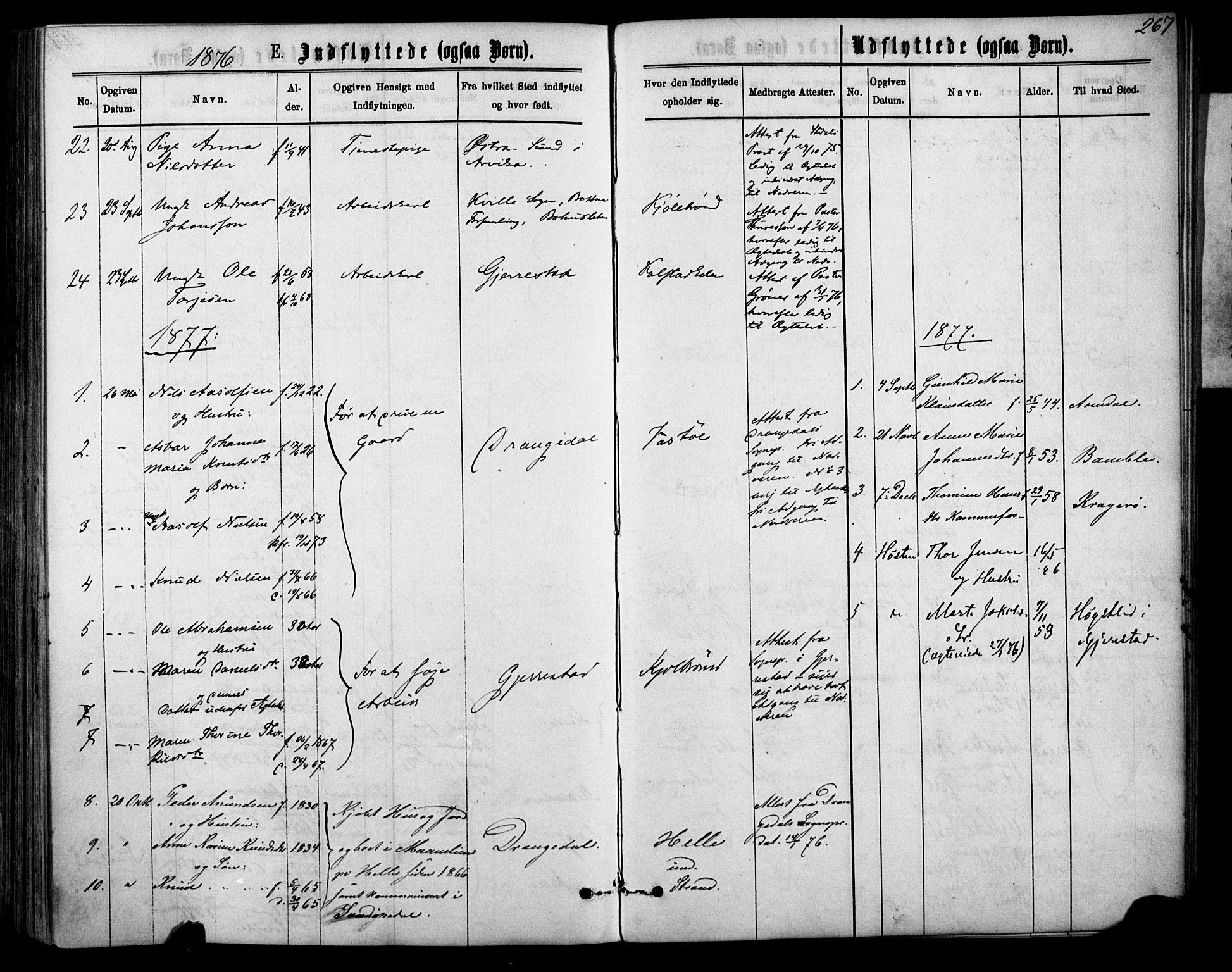 SAKO, Sannidal kirkebøker, F/Fa/L0014: Ministerialbok nr. 14, 1874-1883, s. 267