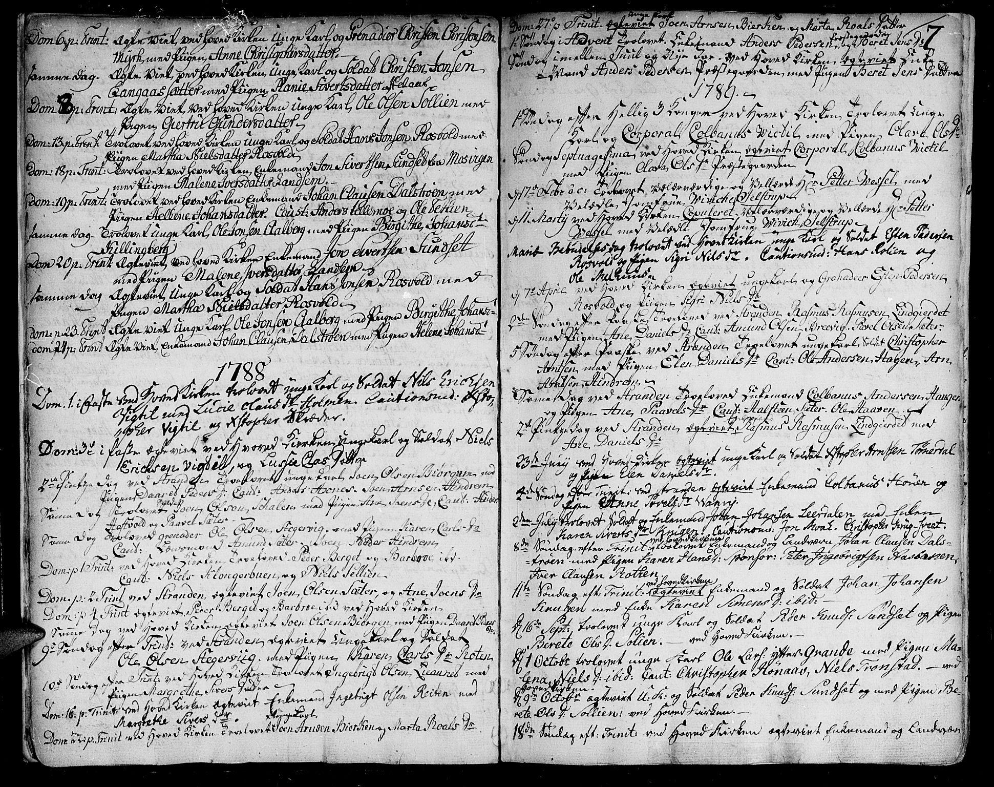SAT, Ministerialprotokoller, klokkerbøker og fødselsregistre - Nord-Trøndelag, 701/L0004: Ministerialbok nr. 701A04, 1783-1816, s. 7