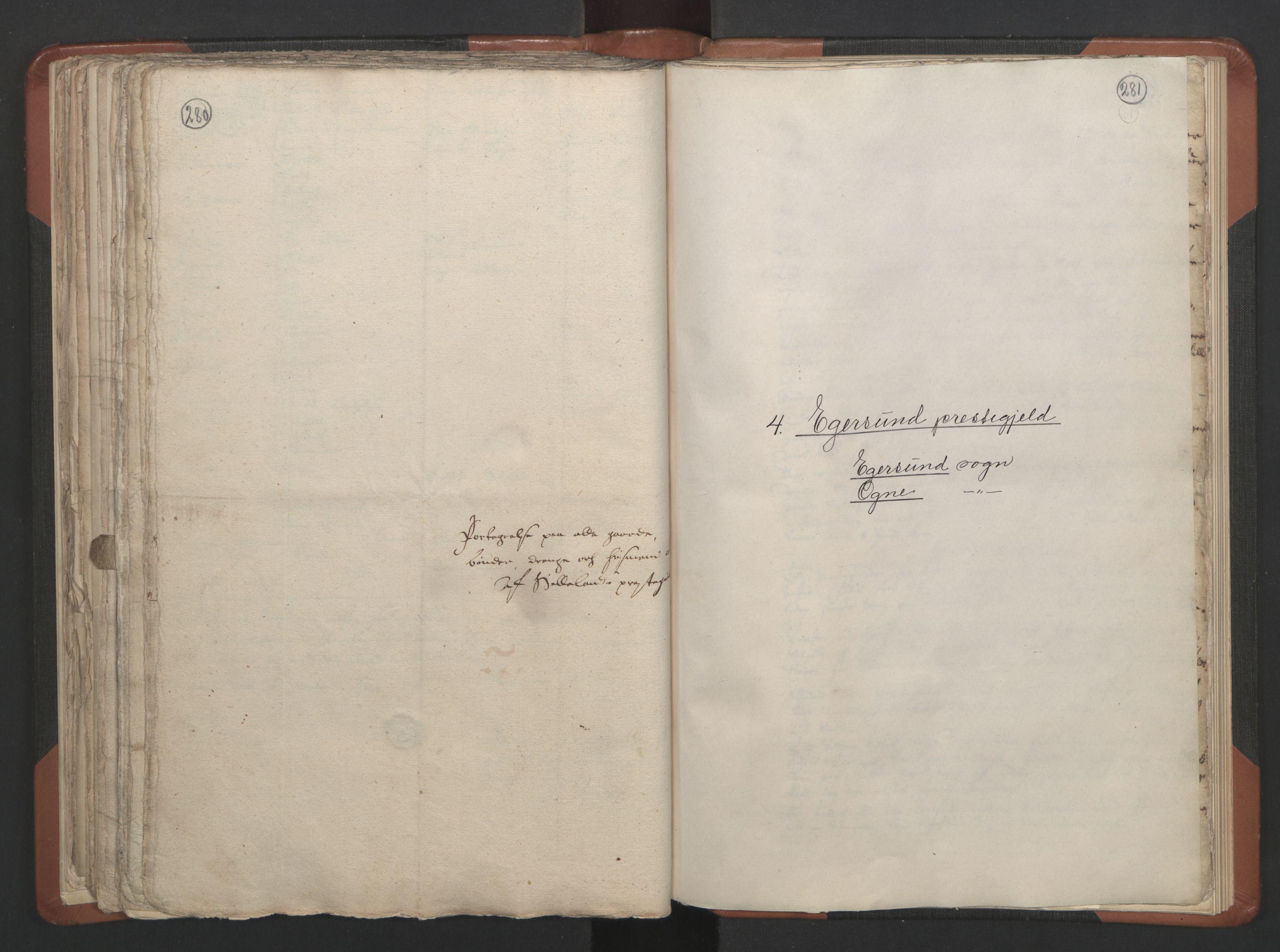 RA, Sogneprestenes manntall 1664-1666, nr. 17: Jæren prosti og Dalane prosti, 1664-1666, s. 280-281