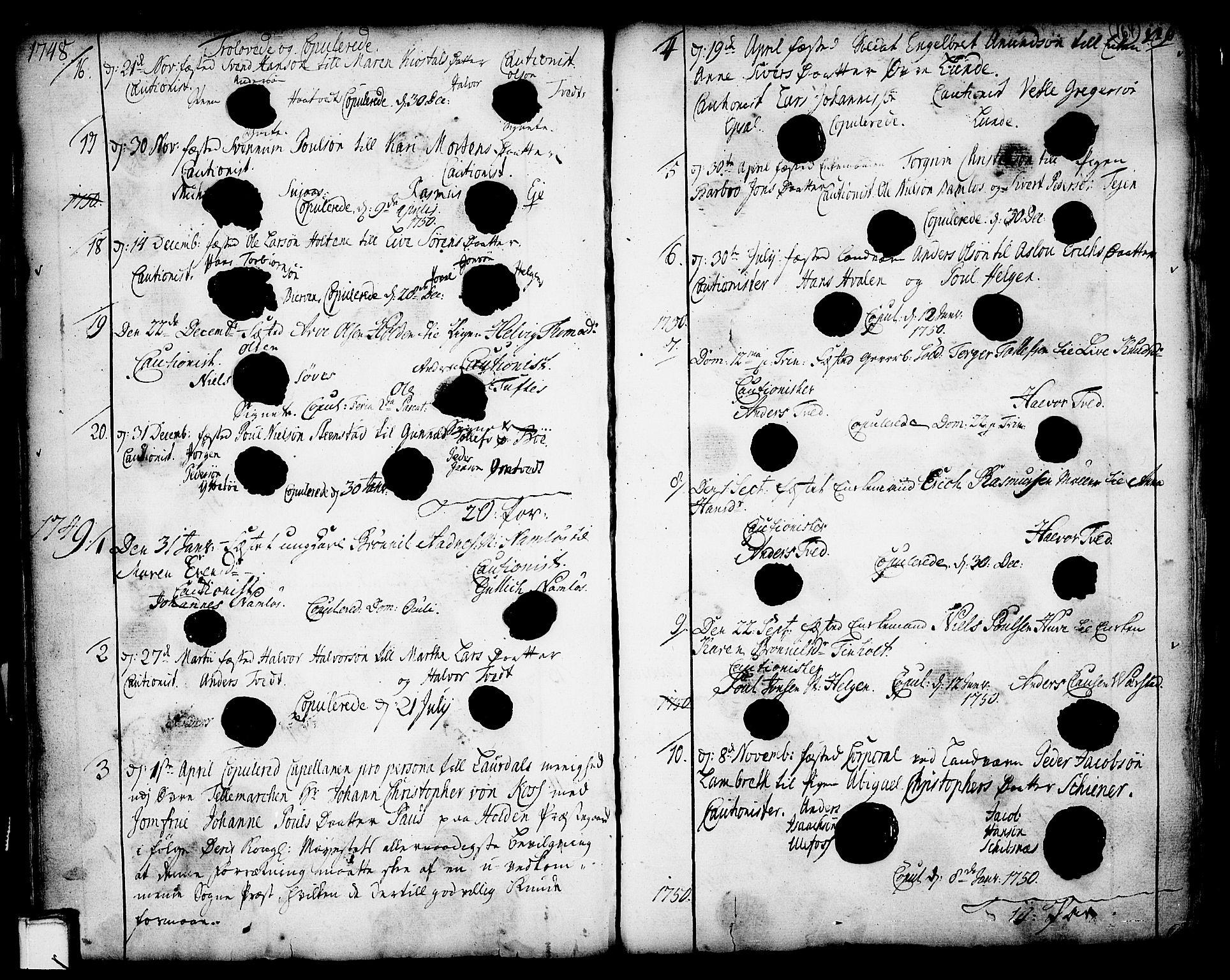 SAKO, Holla kirkebøker, F/Fa/L0001: Ministerialbok nr. 1, 1717-1779, s. 164
