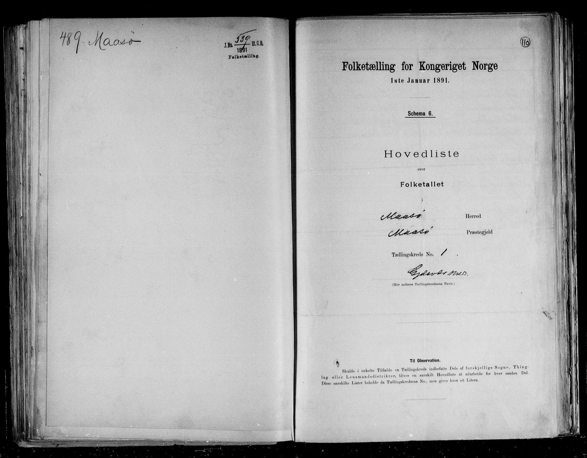 RA, Folketelling 1891 for 2018 Måsøy herred, 1891, s. 6