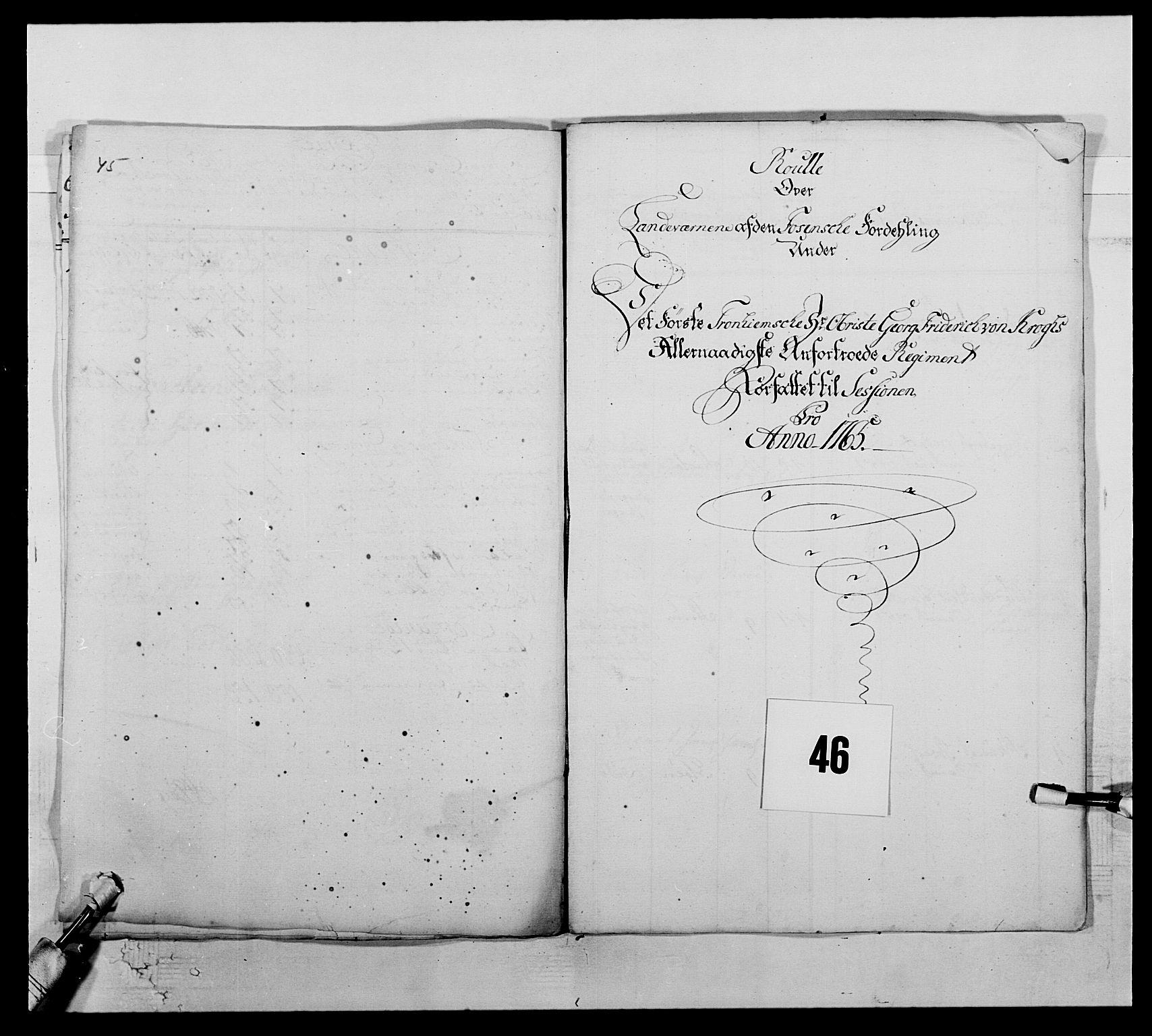 RA, Kommanderende general (KG I) med Det norske krigsdirektorium, E/Ea/L0510: 1. Trondheimske regiment, 1756-1765, s. 565