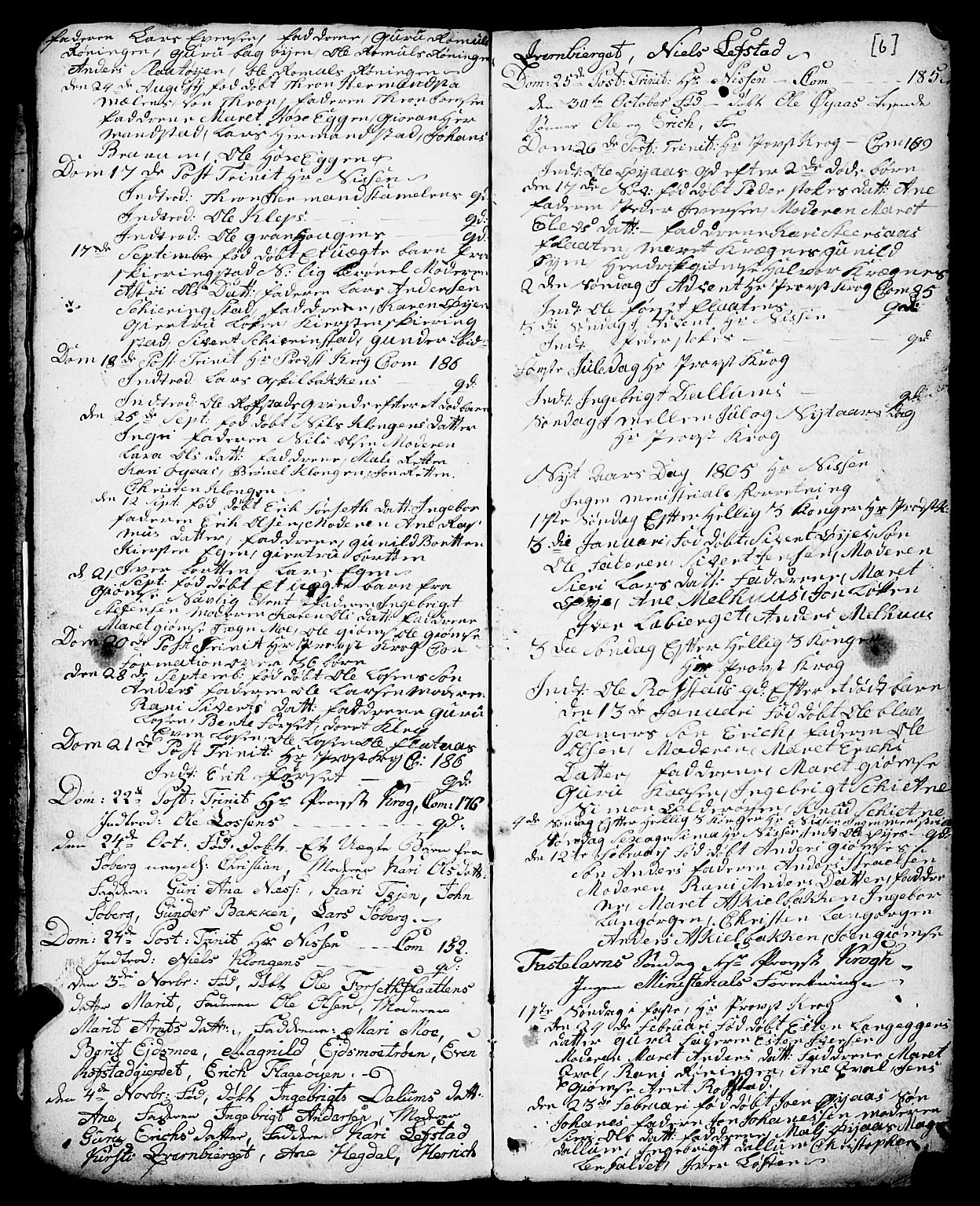 SAT, Ministerialprotokoller, klokkerbøker og fødselsregistre - Sør-Trøndelag, 691/L1091: Klokkerbok nr. 691C02, 1802-1815, s. 6