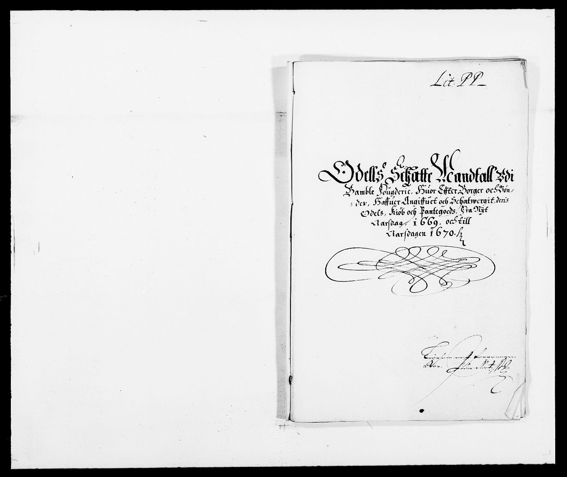 RA, Rentekammeret inntil 1814, Reviderte regnskaper, Fogderegnskap, R34/L2040: Fogderegnskap Bamble, 1662-1669, s. 196