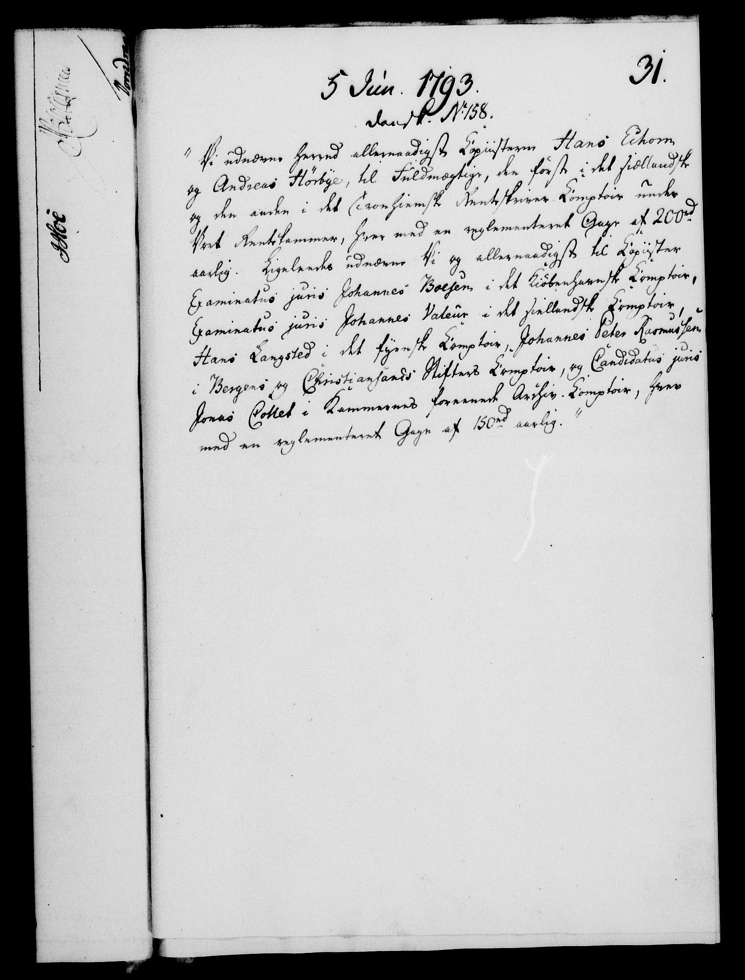 RA, Rentekammeret, Kammerkanselliet, G/Gf/Gfa/L0075: Norsk relasjons- og resolusjonsprotokoll (merket RK 52.75), 1793, s. 150