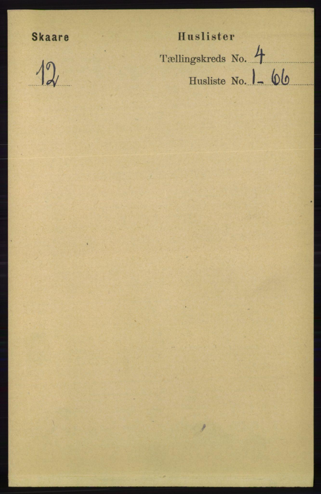 RA, Folketelling 1891 for 1153 Skåre herred, 1891, s. 1685