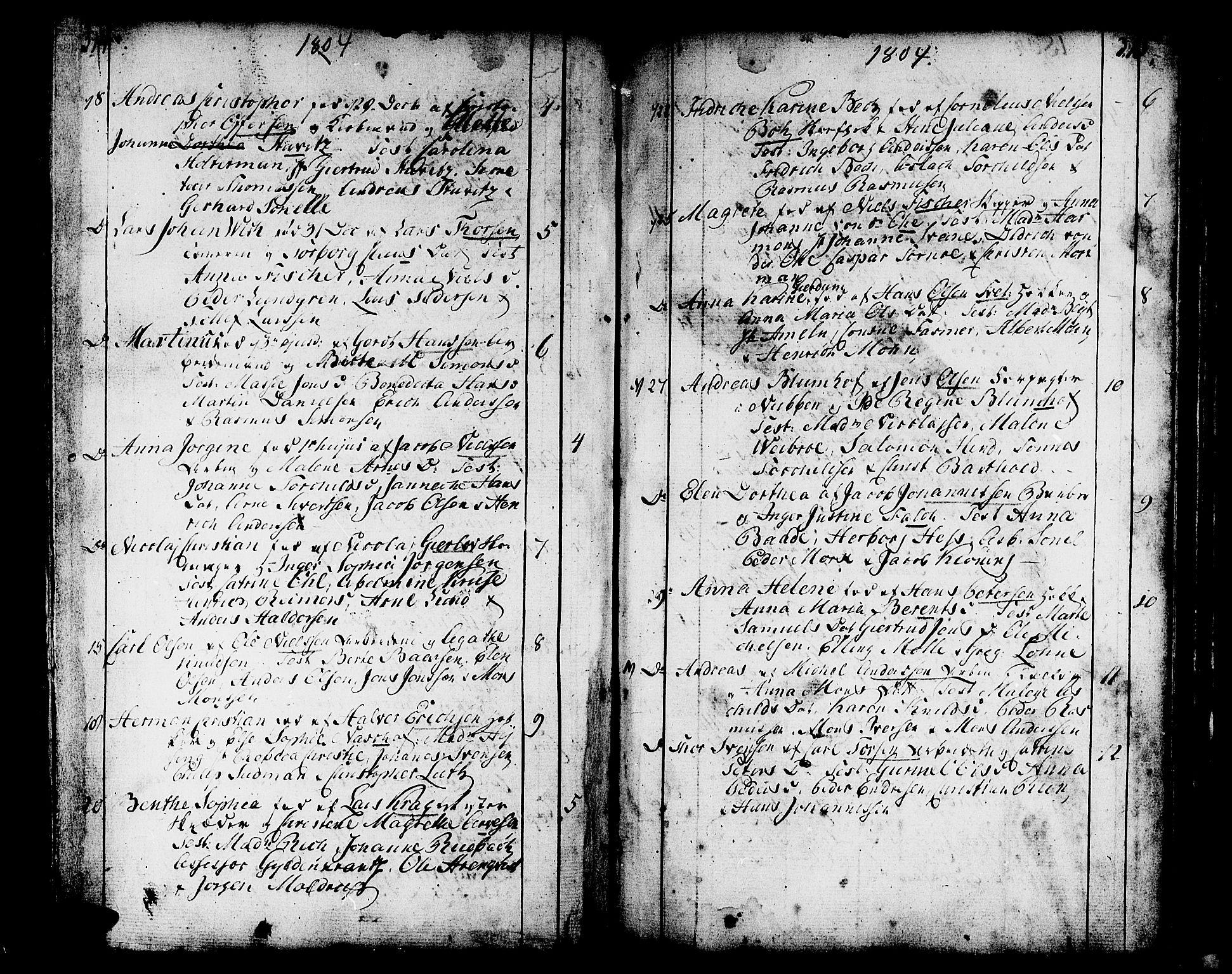SAB, Domkirken sokneprestembete, H/Haa/L0004: Ministerialbok nr. A 4, 1763-1820, s. 314-315