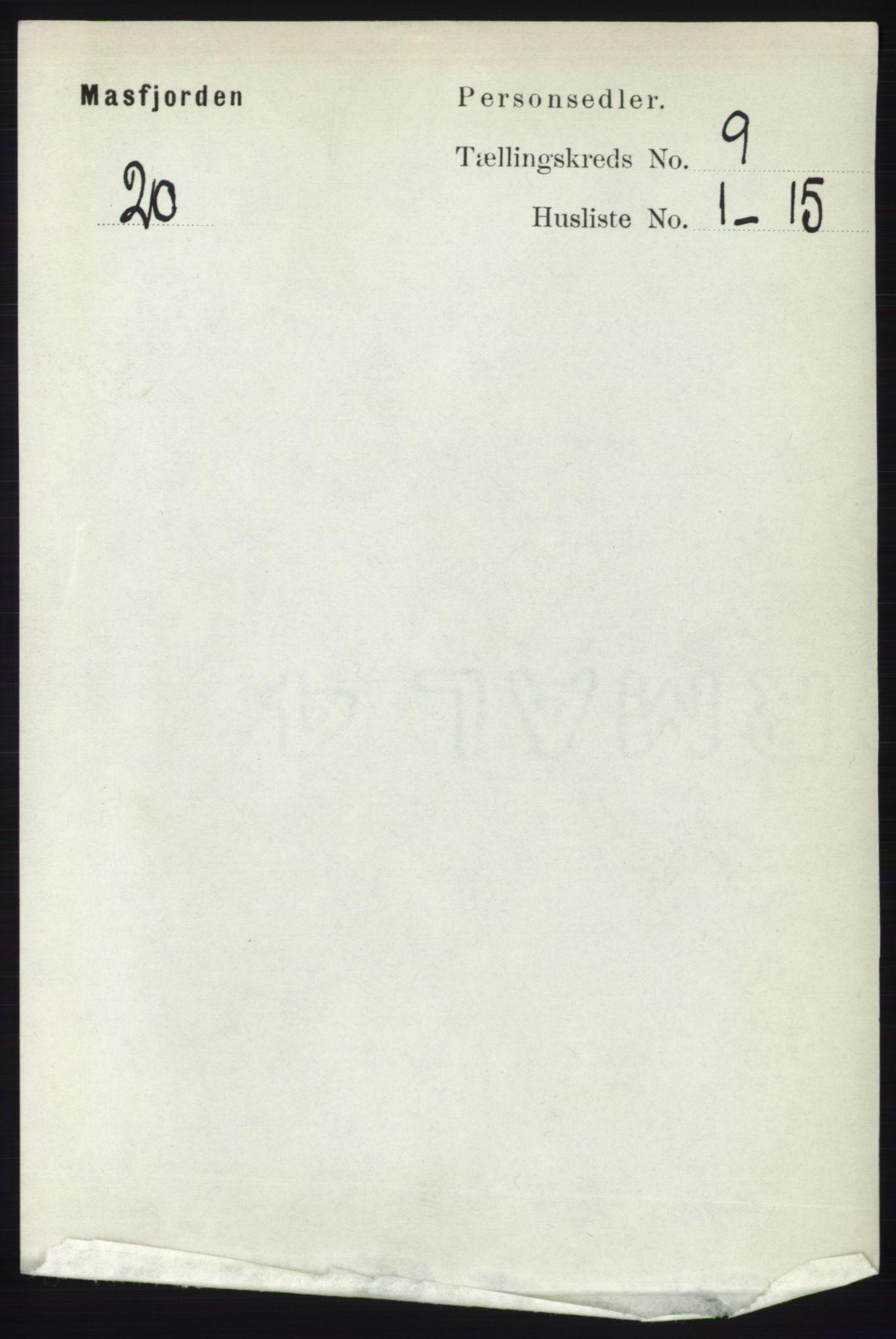 RA, Folketelling 1891 for 1266 Masfjorden herred, 1891, s. 1725