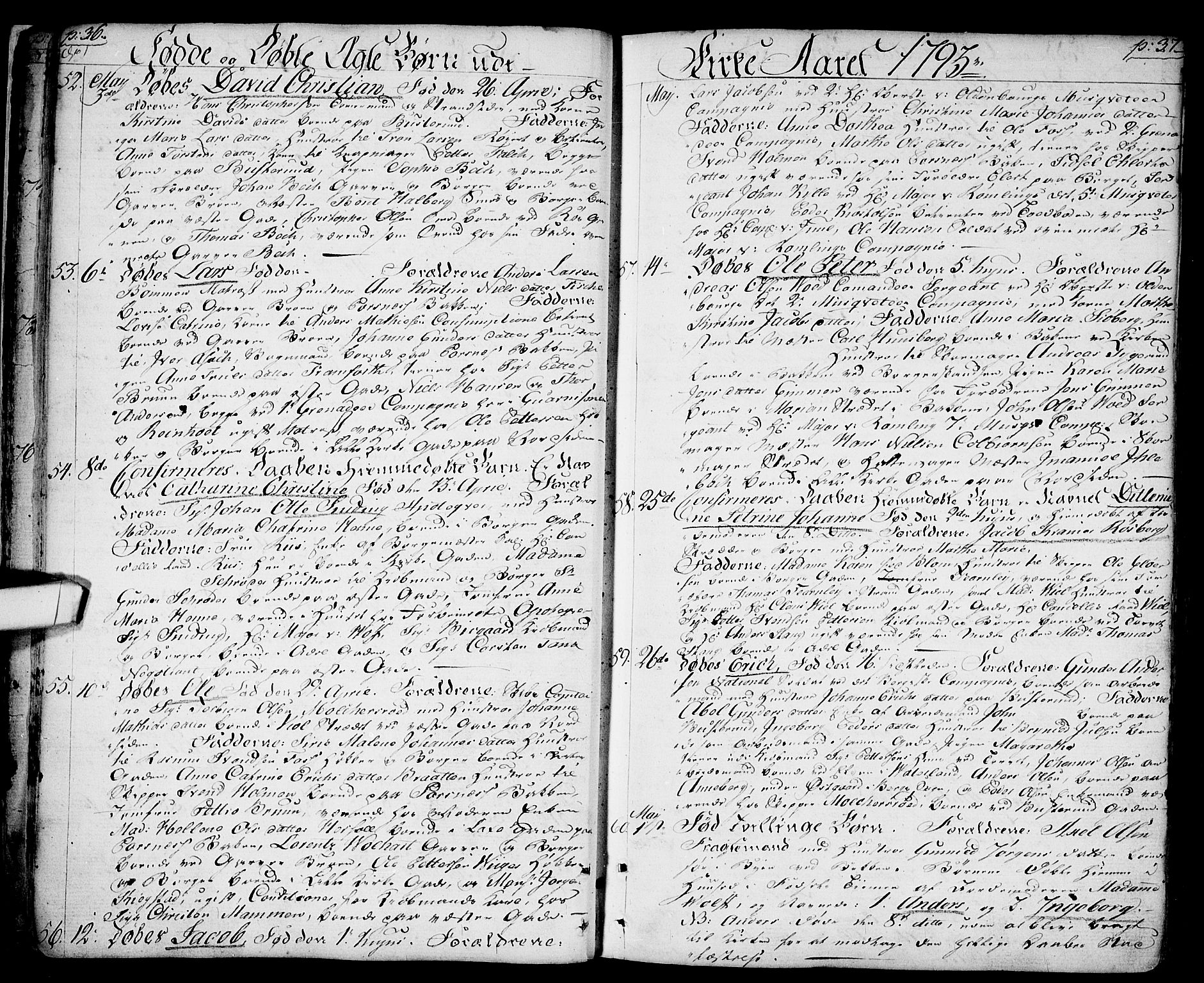 SAO, Halden prestekontor Kirkebøker, F/Fa/L0002: Ministerialbok nr. I 2, 1792-1812, s. 36-37