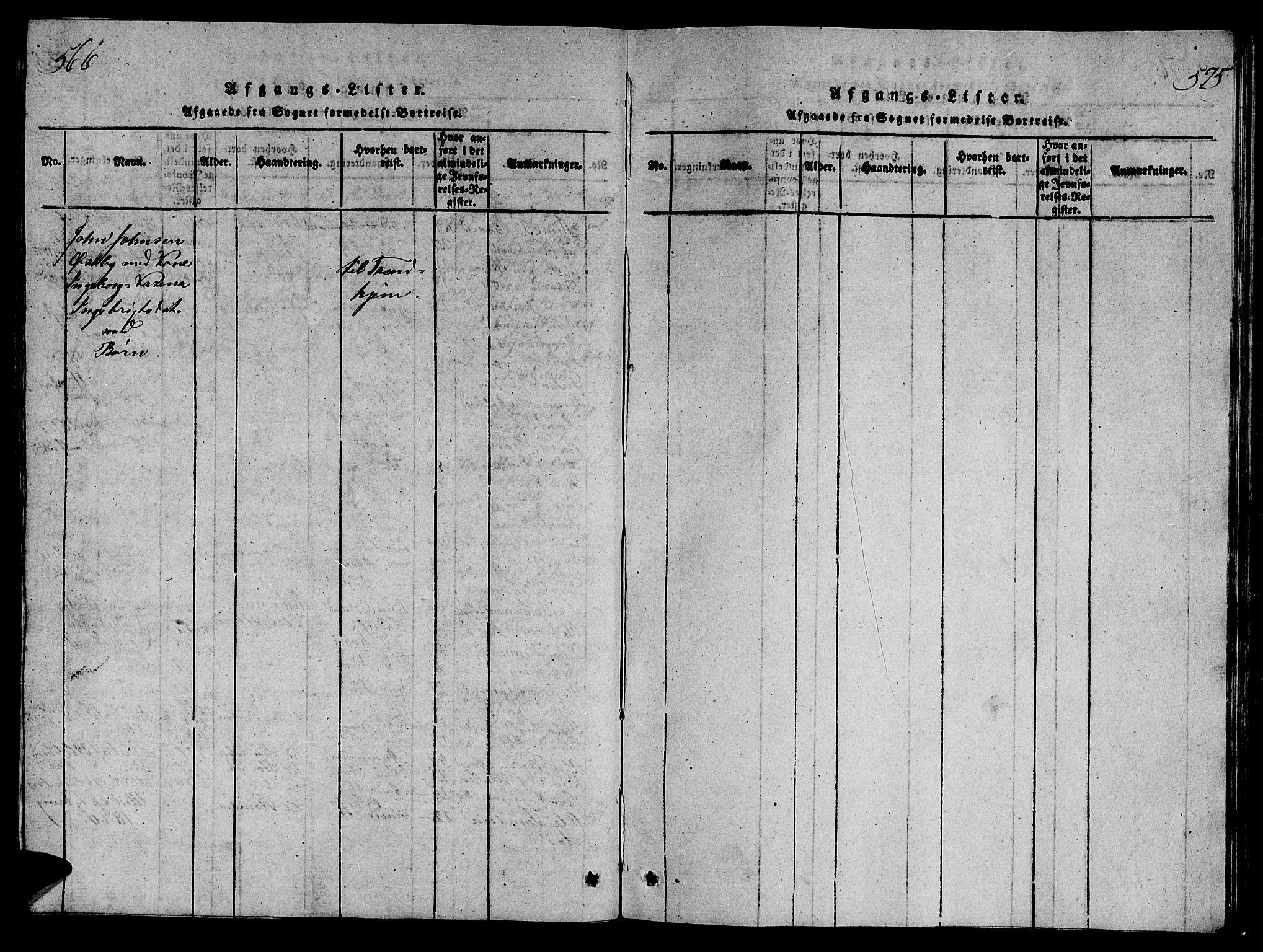 SAT, Ministerialprotokoller, klokkerbøker og fødselsregistre - Sør-Trøndelag, 698/L1164: Klokkerbok nr. 698C01, 1816-1861, s. 566-575