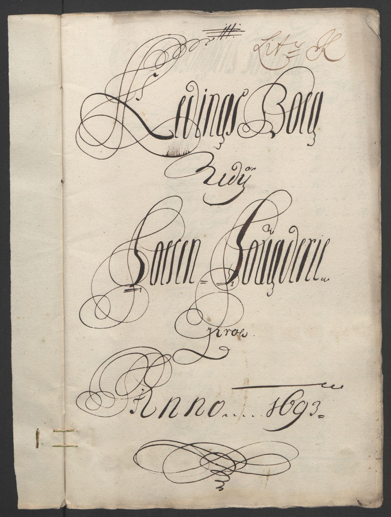 RA, Rentekammeret inntil 1814, Reviderte regnskaper, Fogderegnskap, R57/L3849: Fogderegnskap Fosen, 1692-1693, s. 532