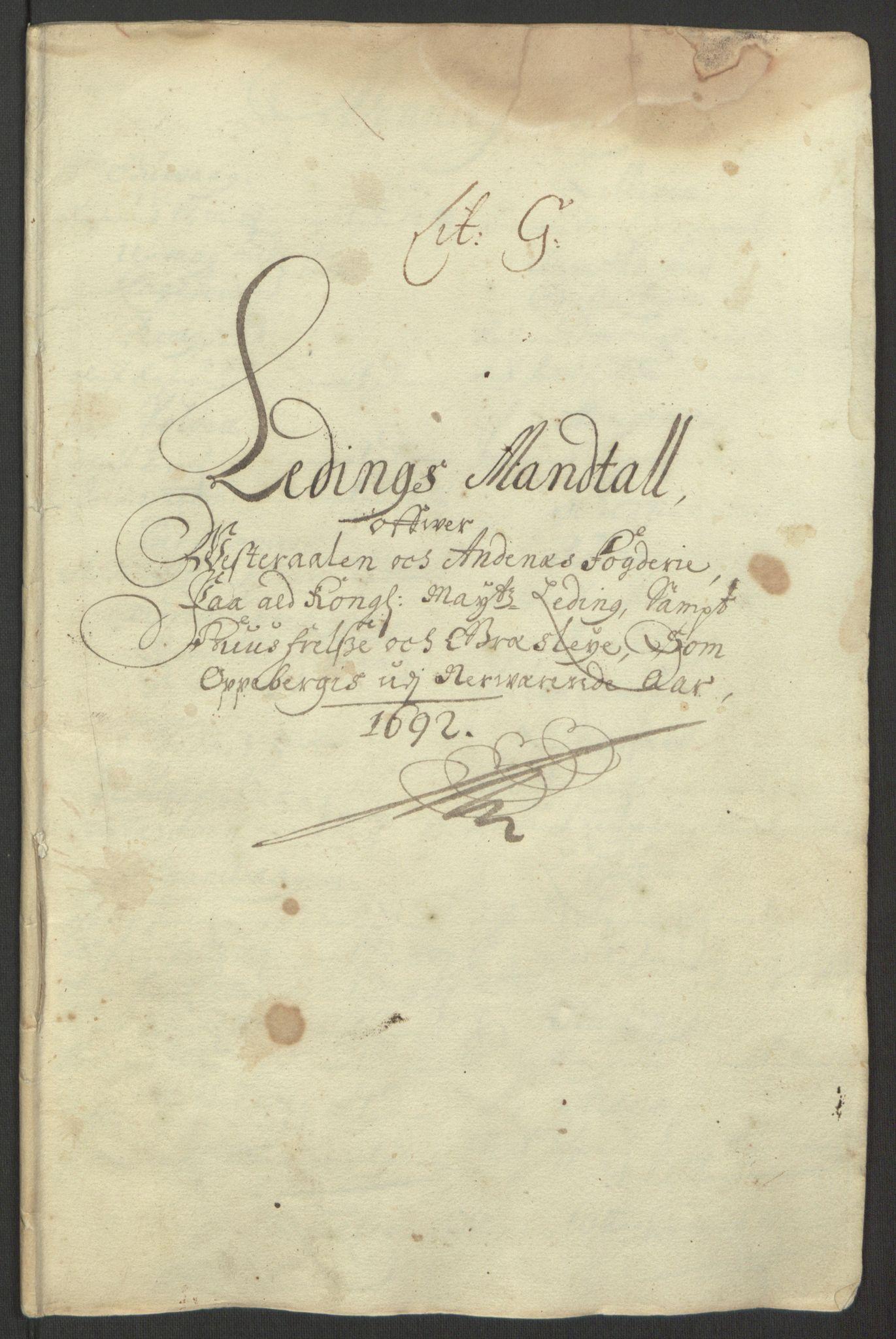 RA, Rentekammeret inntil 1814, Reviderte regnskaper, Fogderegnskap, R67/L4676: Fogderegnskap Vesterålen, Andenes og Lofoten, 1691-1693, s. 138