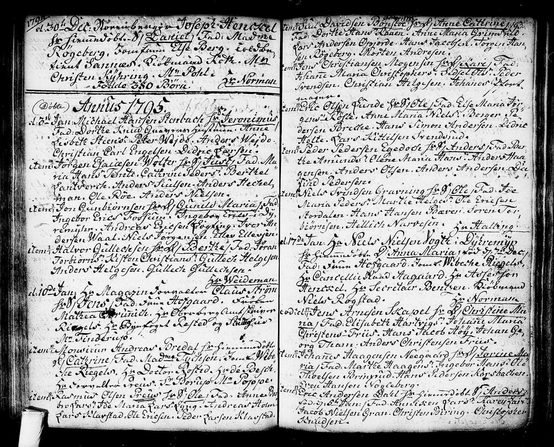 SAKO, Kongsberg kirkebøker, F/Fa/L0006: Ministerialbok nr. I 6, 1783-1797, s. 193
