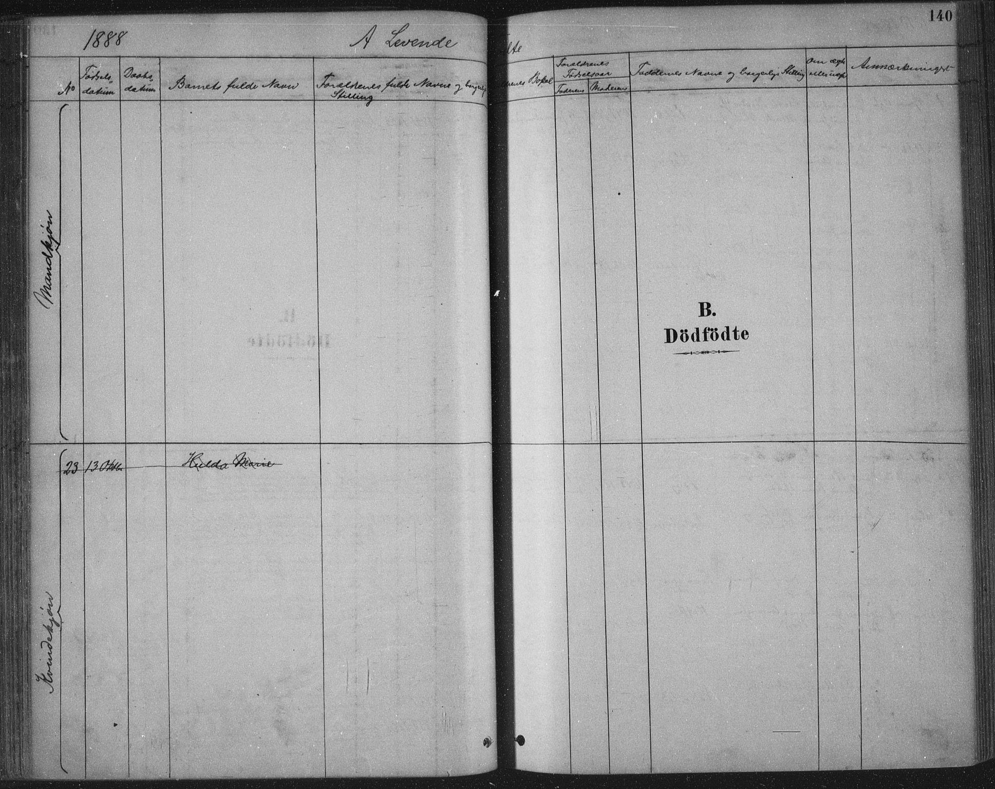SAKO, Bamble kirkebøker, F/Fa/L0007: Ministerialbok nr. I 7, 1878-1888, s. 140