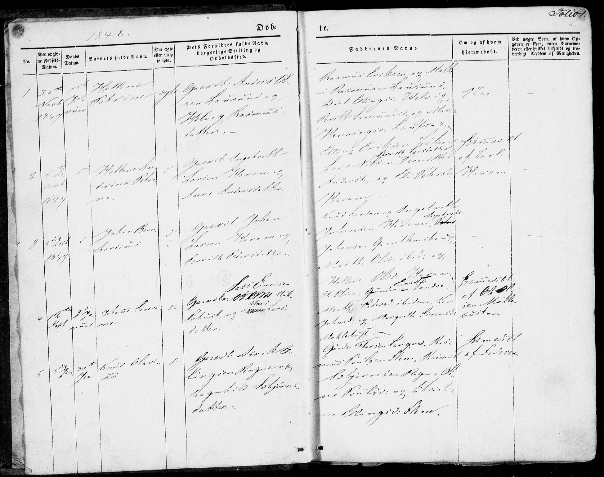 SAT, Ministerialprotokoller, klokkerbøker og fødselsregistre - Møre og Romsdal, 536/L0497: Ministerialbok nr. 536A06, 1845-1865, s. 1