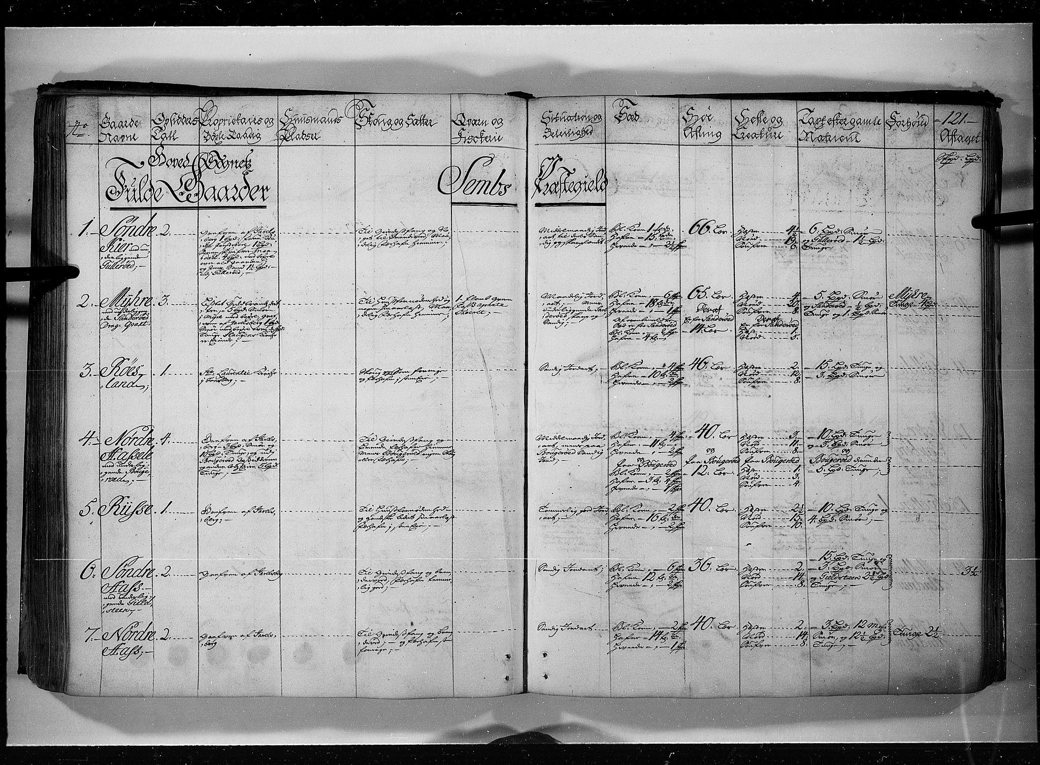 RA, Rentekammeret inntil 1814, Realistisk ordnet avdeling, N/Nb/Nbf/L0115: Jarlsberg grevskap eksaminasjonsprotokoll, 1723, s. 120b-121a