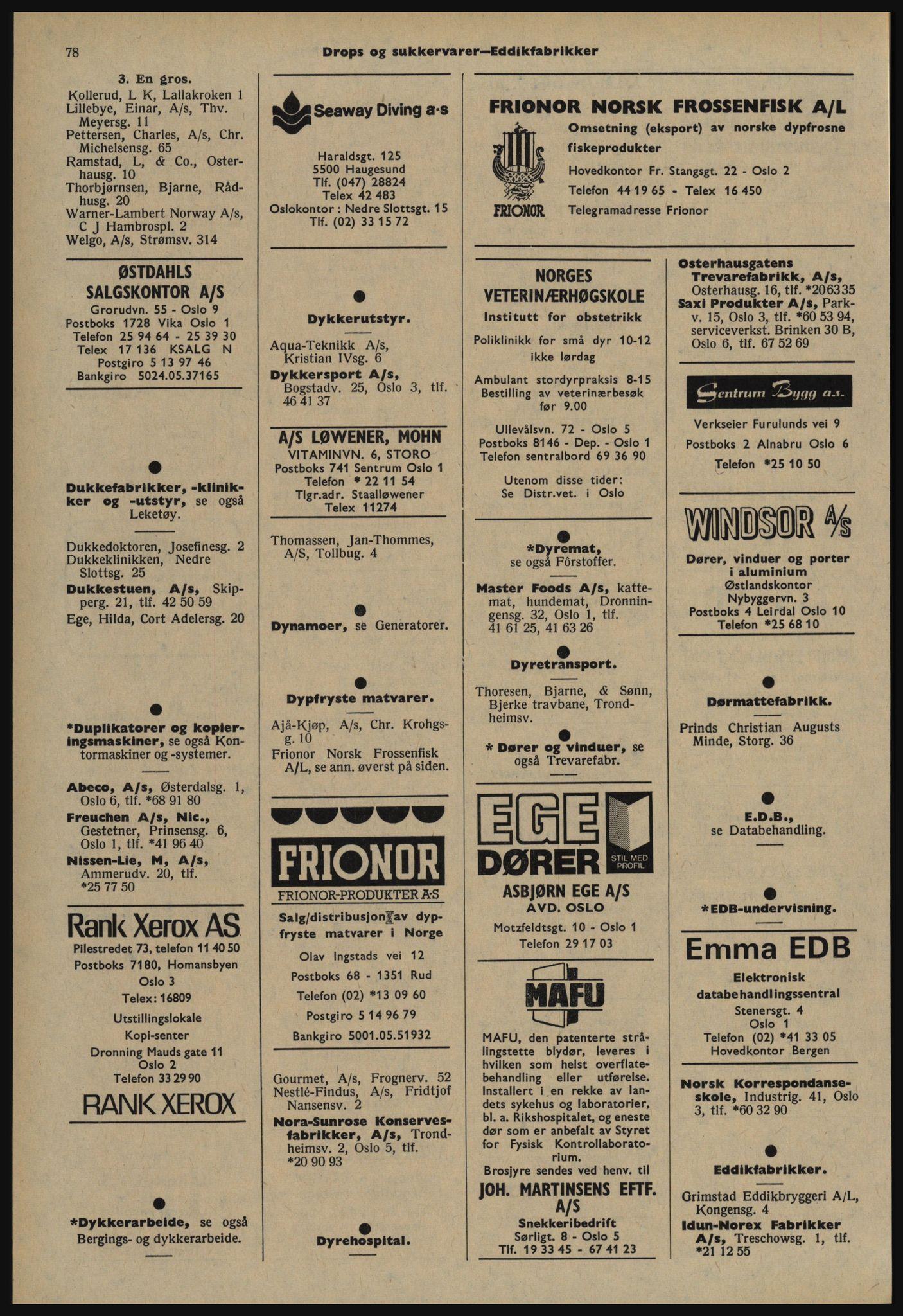 PUBL, Kristiania/Oslo adressebok, 1978-1979, s. 78