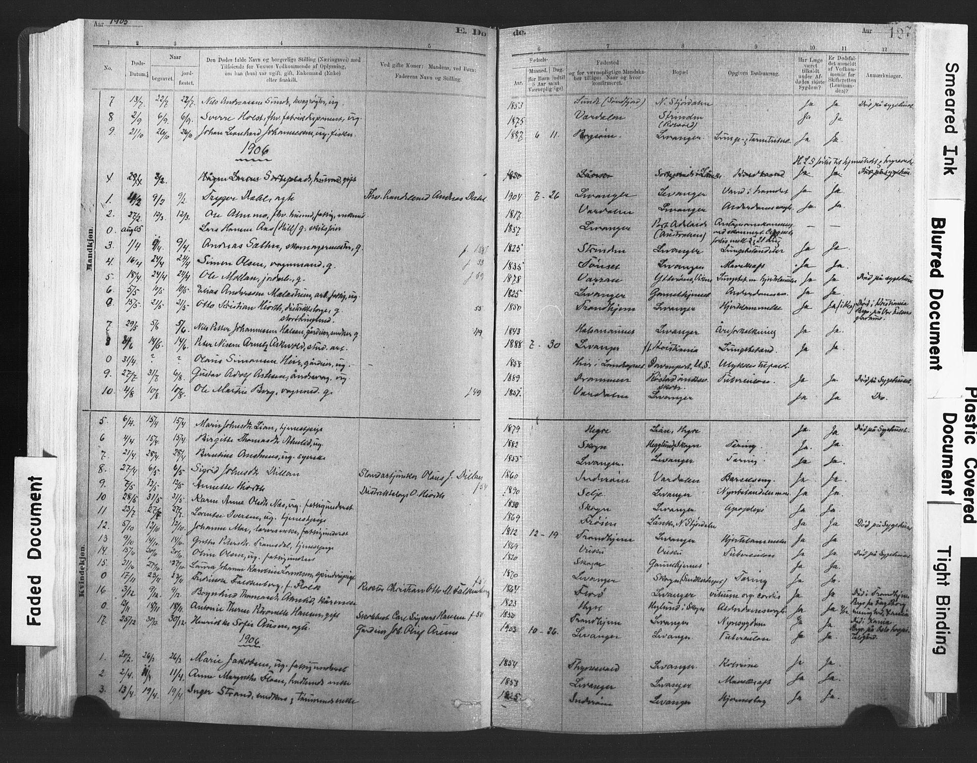 SAT, Ministerialprotokoller, klokkerbøker og fødselsregistre - Nord-Trøndelag, 720/L0189: Ministerialbok nr. 720A05, 1880-1911, s. 127