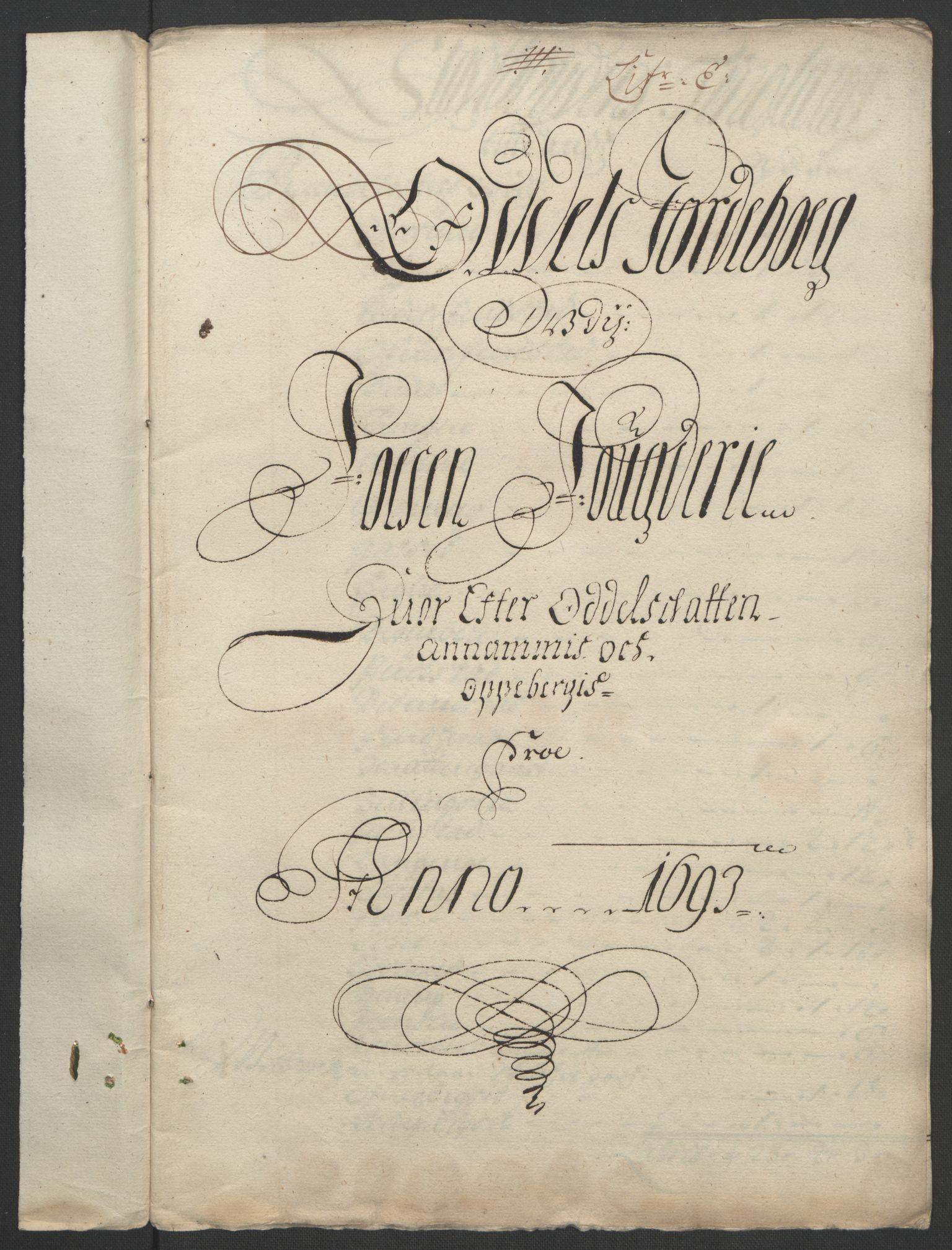 RA, Rentekammeret inntil 1814, Reviderte regnskaper, Fogderegnskap, R57/L3849: Fogderegnskap Fosen, 1692-1693, s. 455