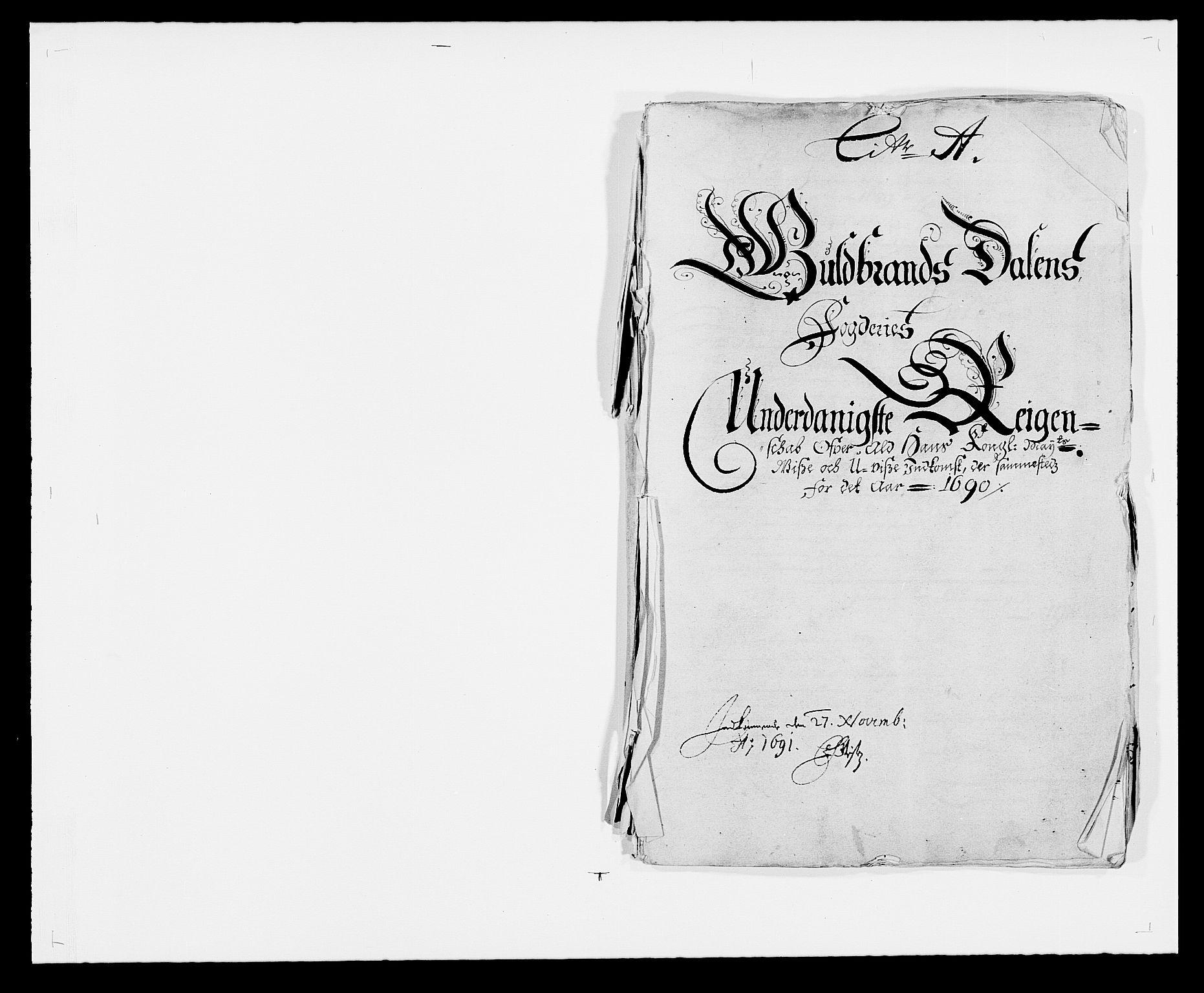 RA, Rentekammeret inntil 1814, Reviderte regnskaper, Fogderegnskap, R17/L1165: Fogderegnskap Gudbrandsdal, 1690-1692, s. 20