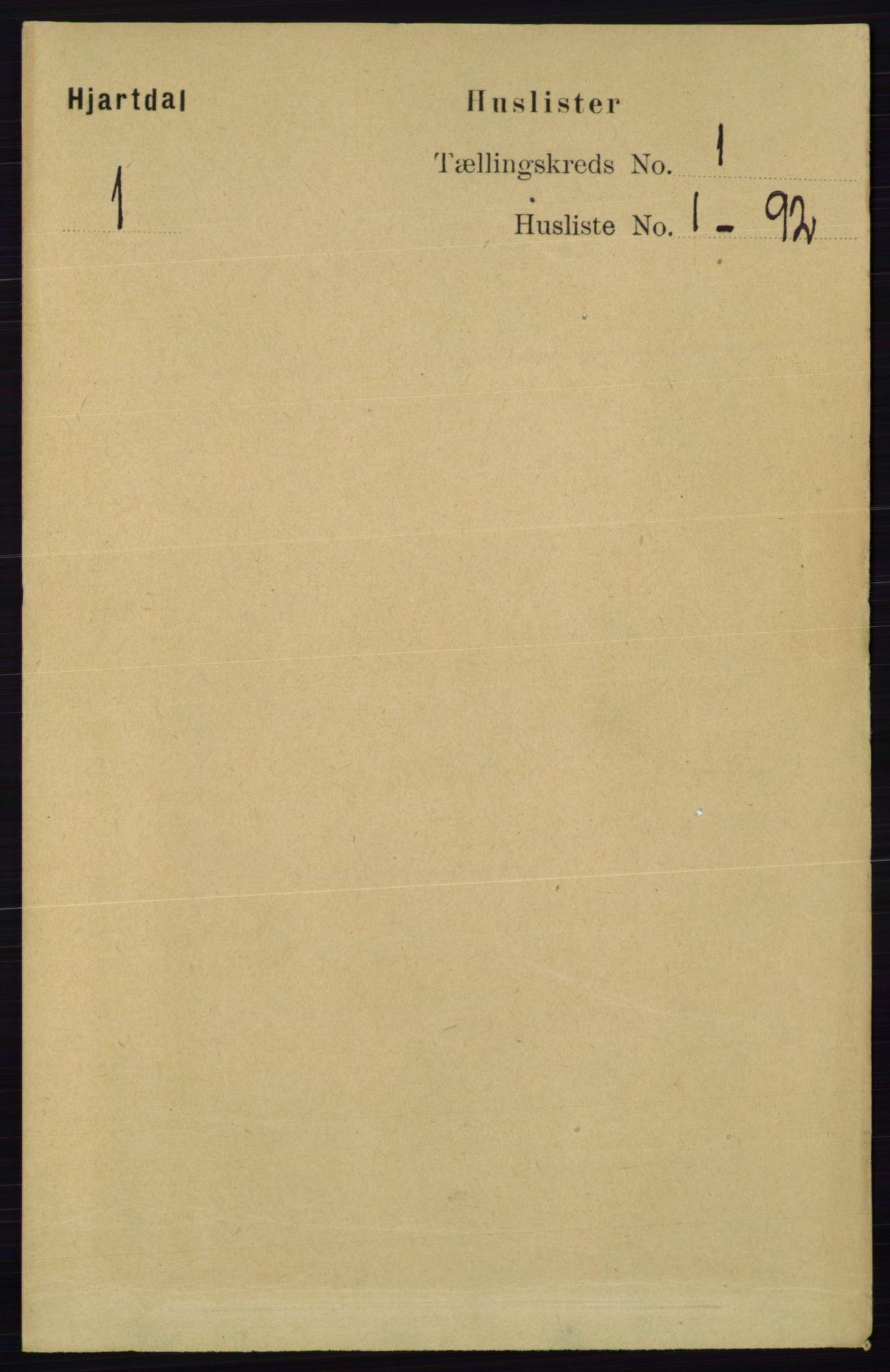RA, Folketelling 1891 for 0827 Hjartdal herred, 1891, s. 24