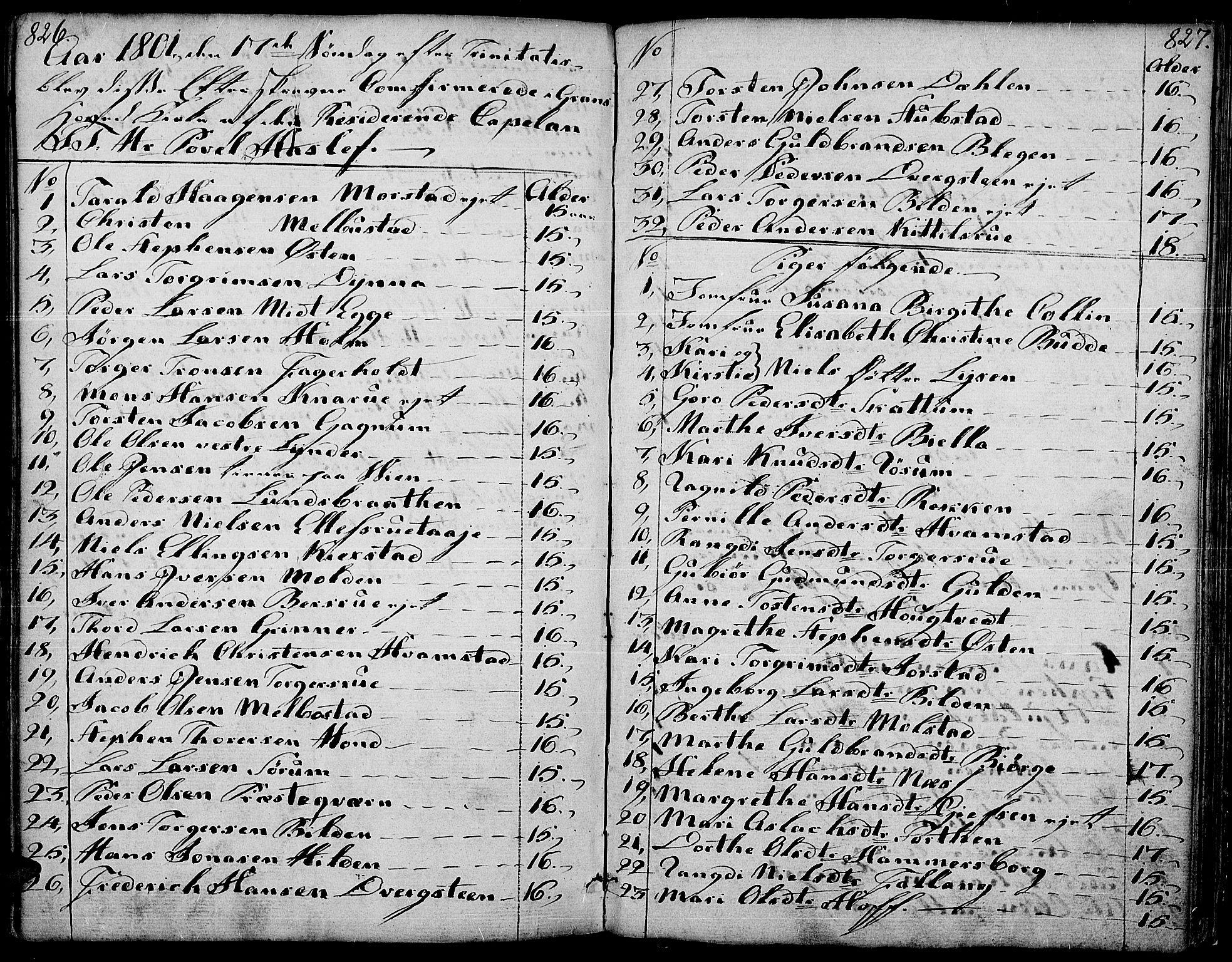 SAH, Gran prestekontor, Ministerialbok nr. 6, 1787-1824, s. 826-827