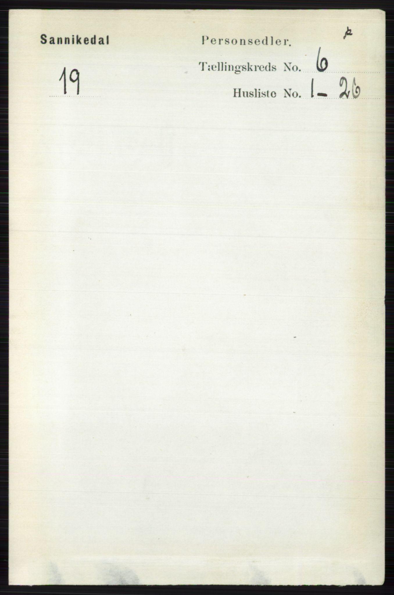 RA, Folketelling 1891 for 0816 Sannidal herred, 1891, s. 2551