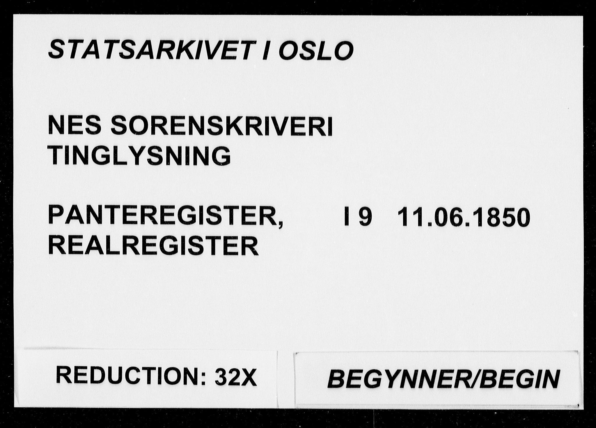 SAO, Nes tingrett, G/Ga/Gab/Gaba/L0009: Panteregister nr. I 9