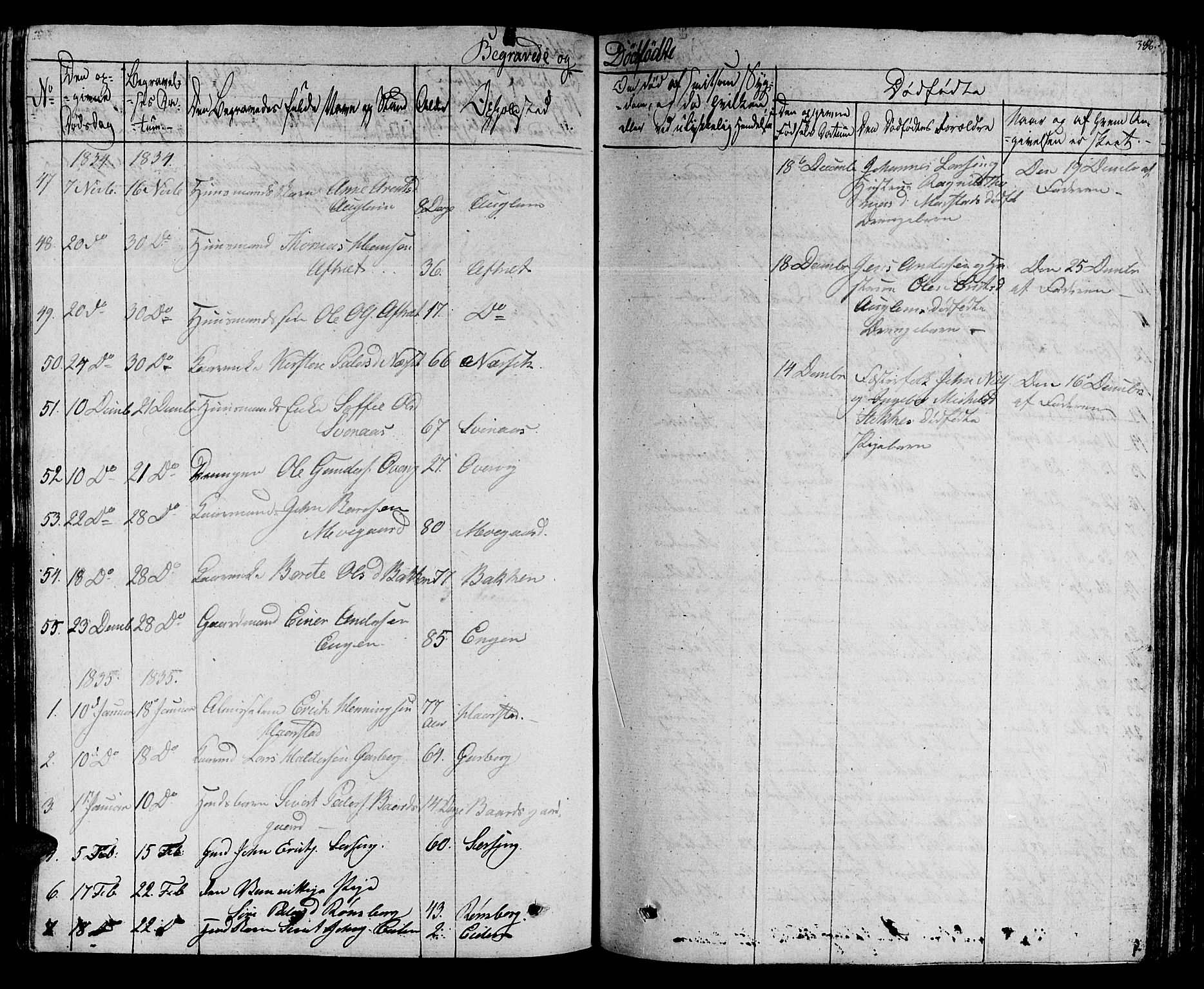 SAT, Ministerialprotokoller, klokkerbøker og fødselsregistre - Sør-Trøndelag, 695/L1143: Ministerialbok nr. 695A05 /1, 1824-1842, s. 386
