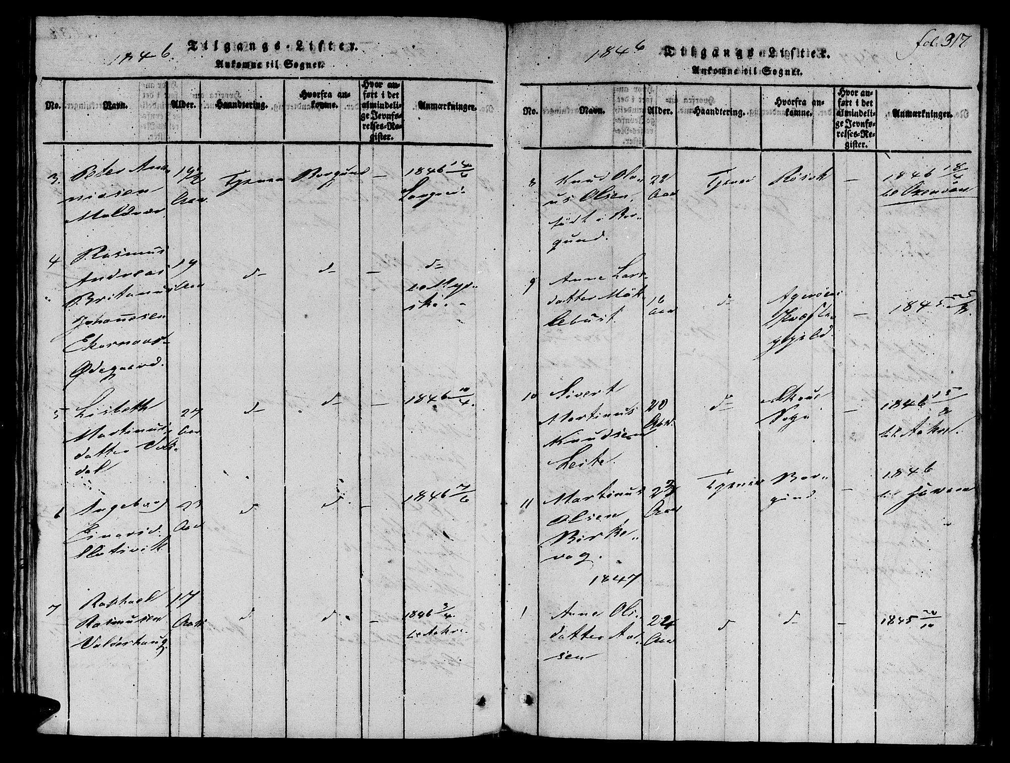 SAT, Ministerialprotokoller, klokkerbøker og fødselsregistre - Møre og Romsdal, 536/L0495: Ministerialbok nr. 536A04, 1818-1847, s. 317